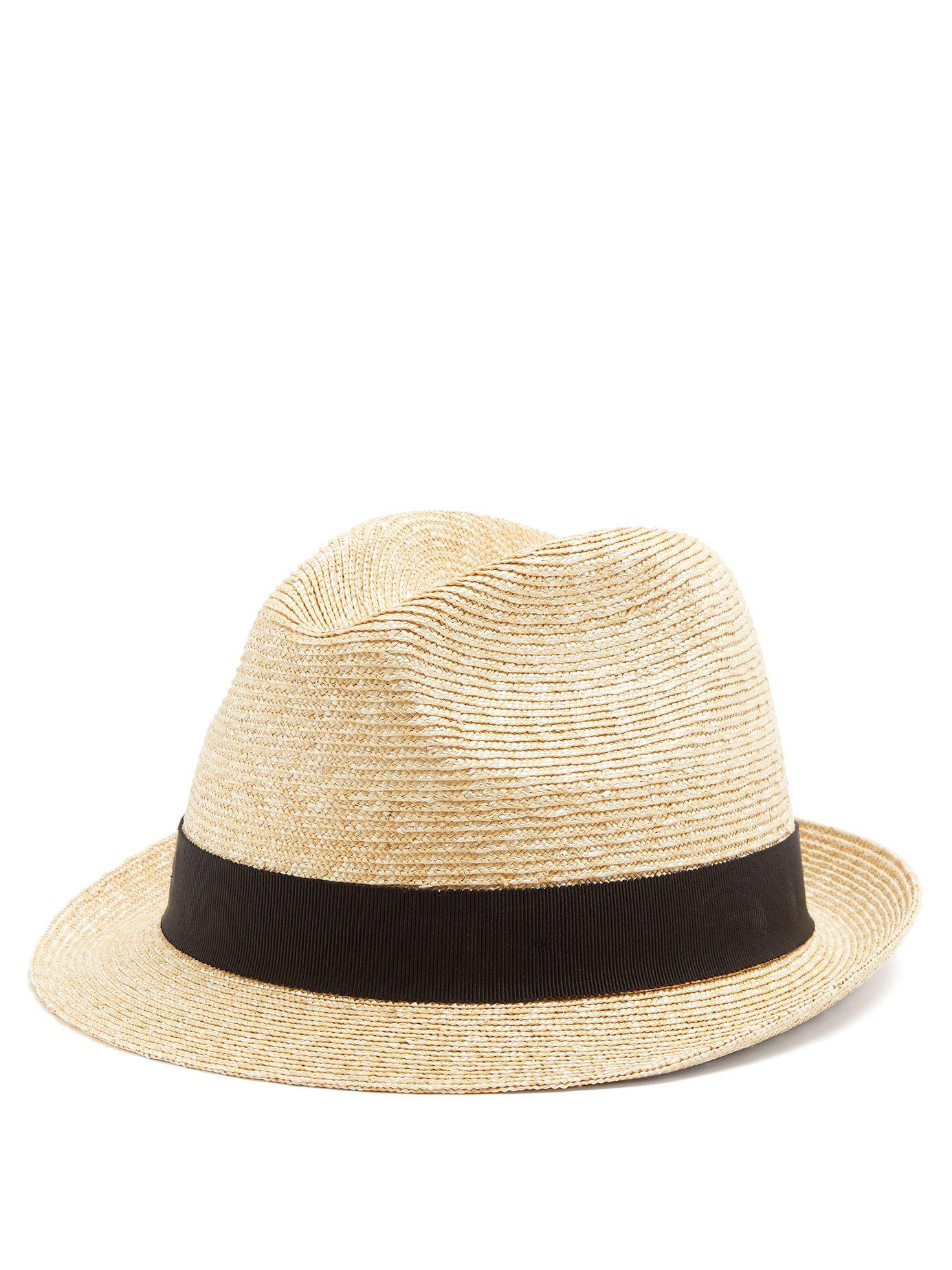 a328c163c2a Lyst - Prada Straw Hat in Brown for Men
