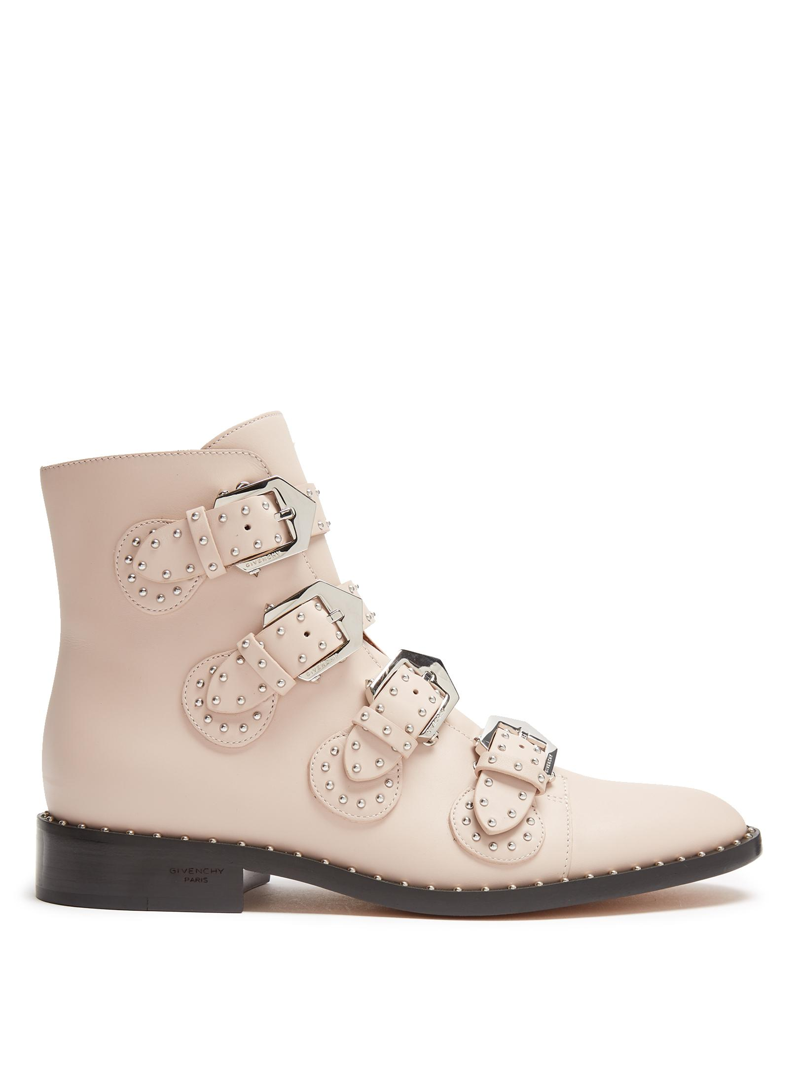 a048668e2da Givenchy Pink Elegant Studded Leather Ankle Boots