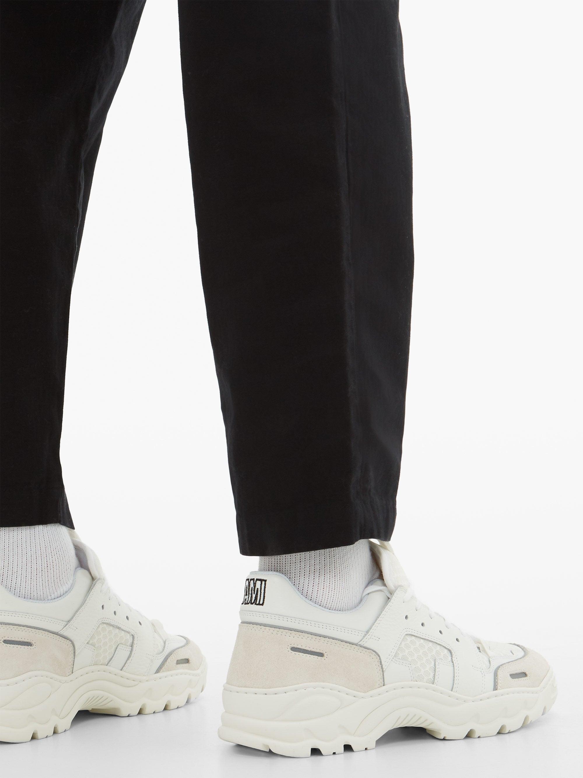 Baskets en daim et résille Running Lucky 9 Daim AMI pour homme en coloris Blanc eBiW