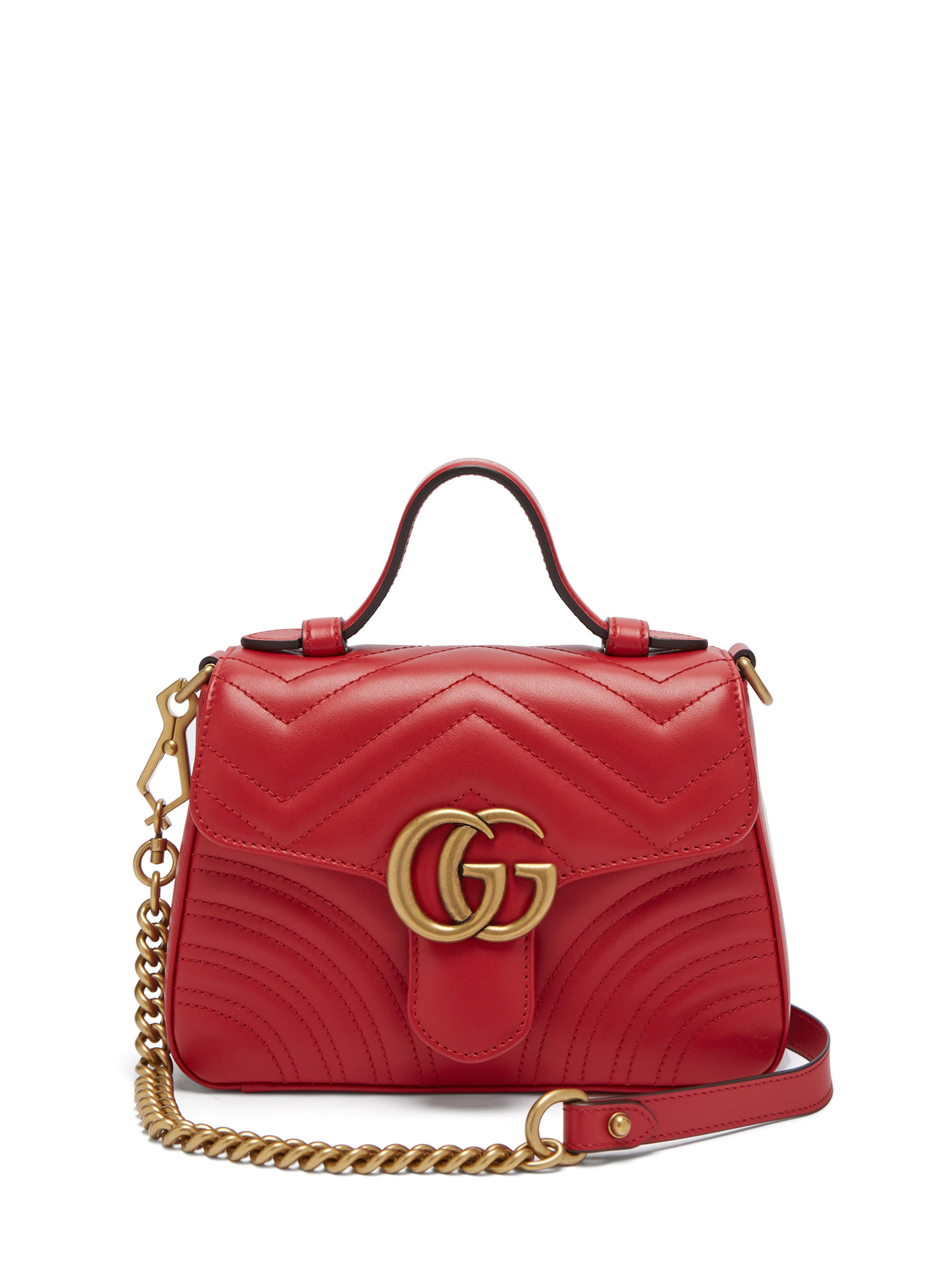 29c701dc8cf Gucci Gg Marmont Quilted Leather Cross Body Bag in Red - Save 15% - Lyst