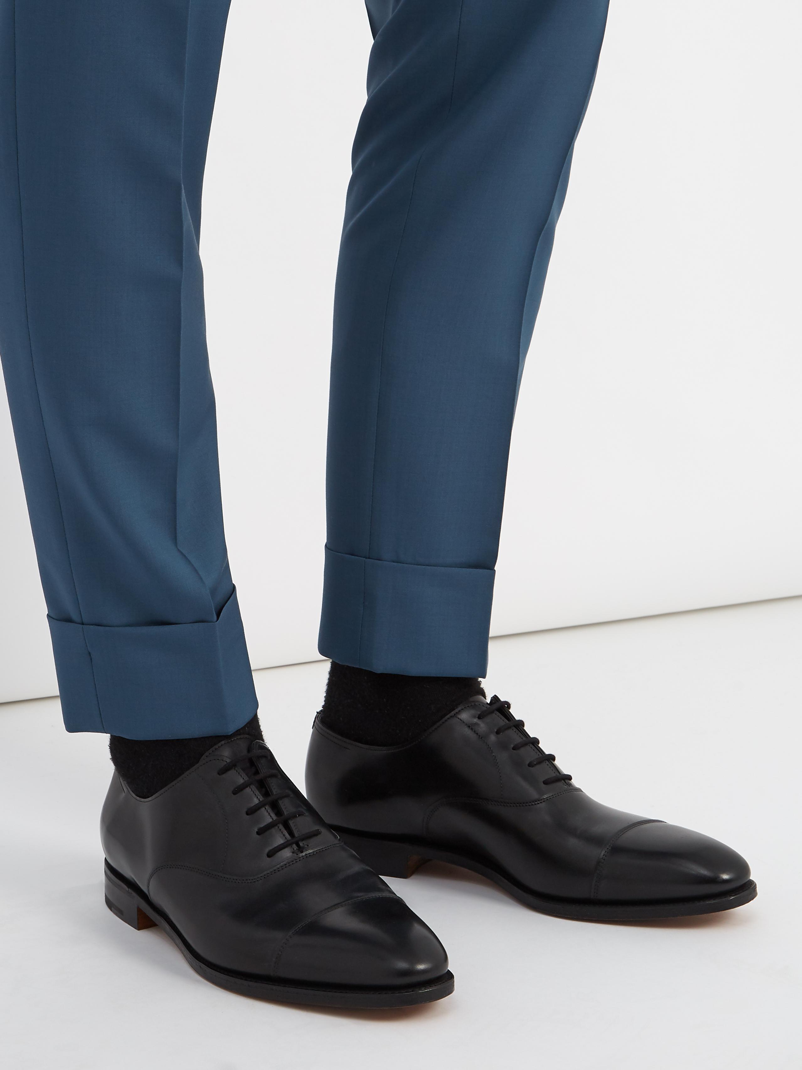 Black Oxford John Chaussures En Lobb Cuir City Pour Ii Coloris Homme 2EHID9