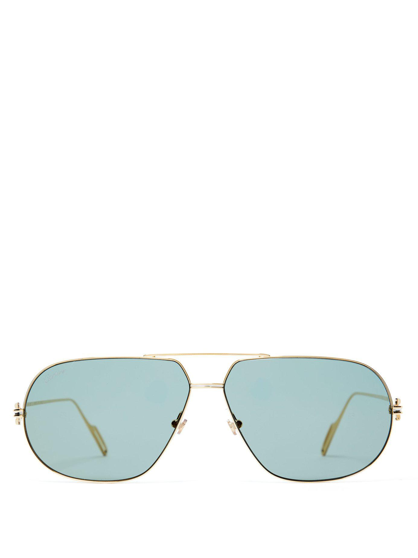 427db9ecd5 Cartier Première De Cartier Aviator Frame Sunglasses in Metallic for ...