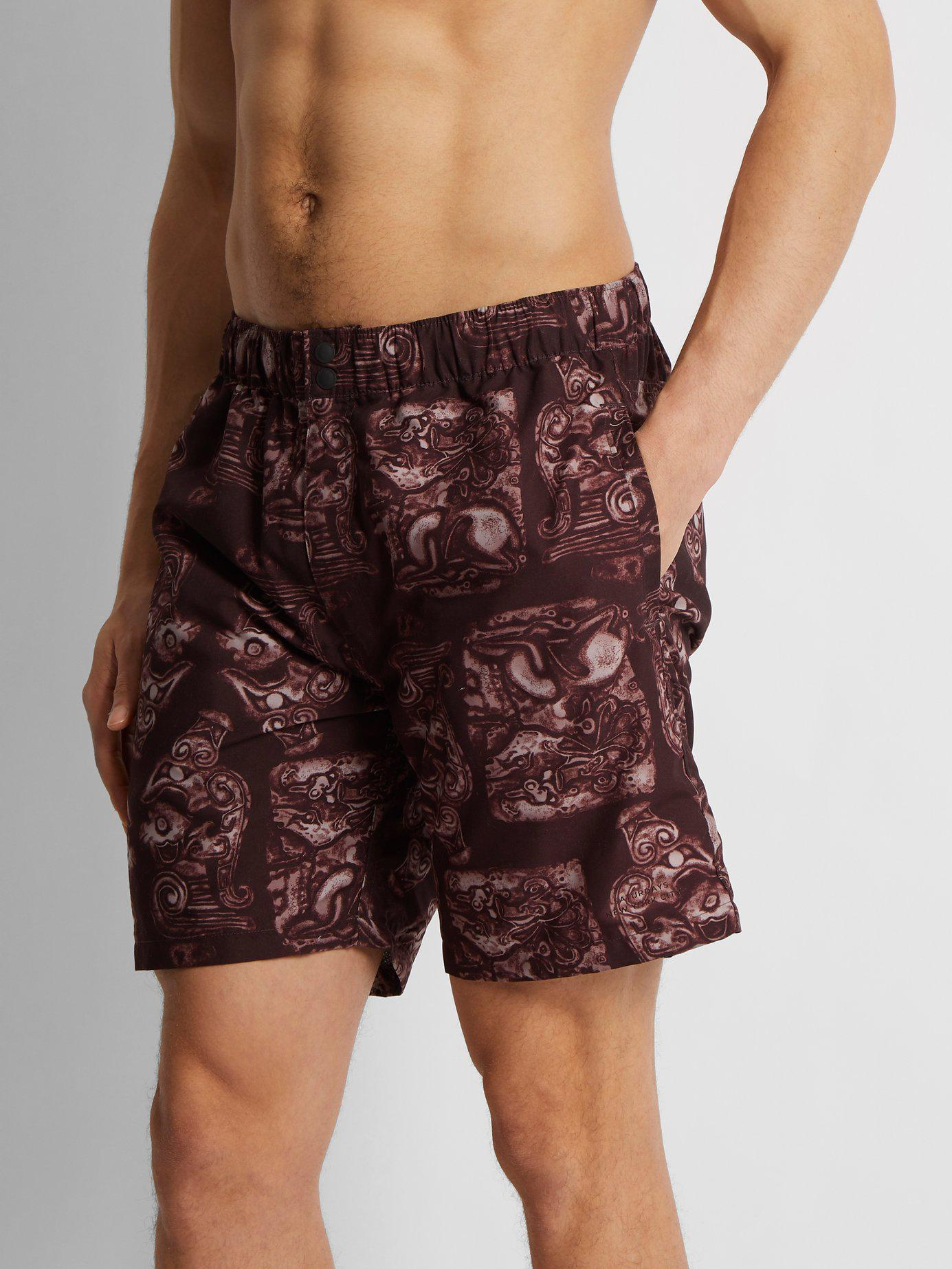 93856c6116a0a Lyst - Saturdays NYC Trent Pendant Swim Shorts in Purple for Men