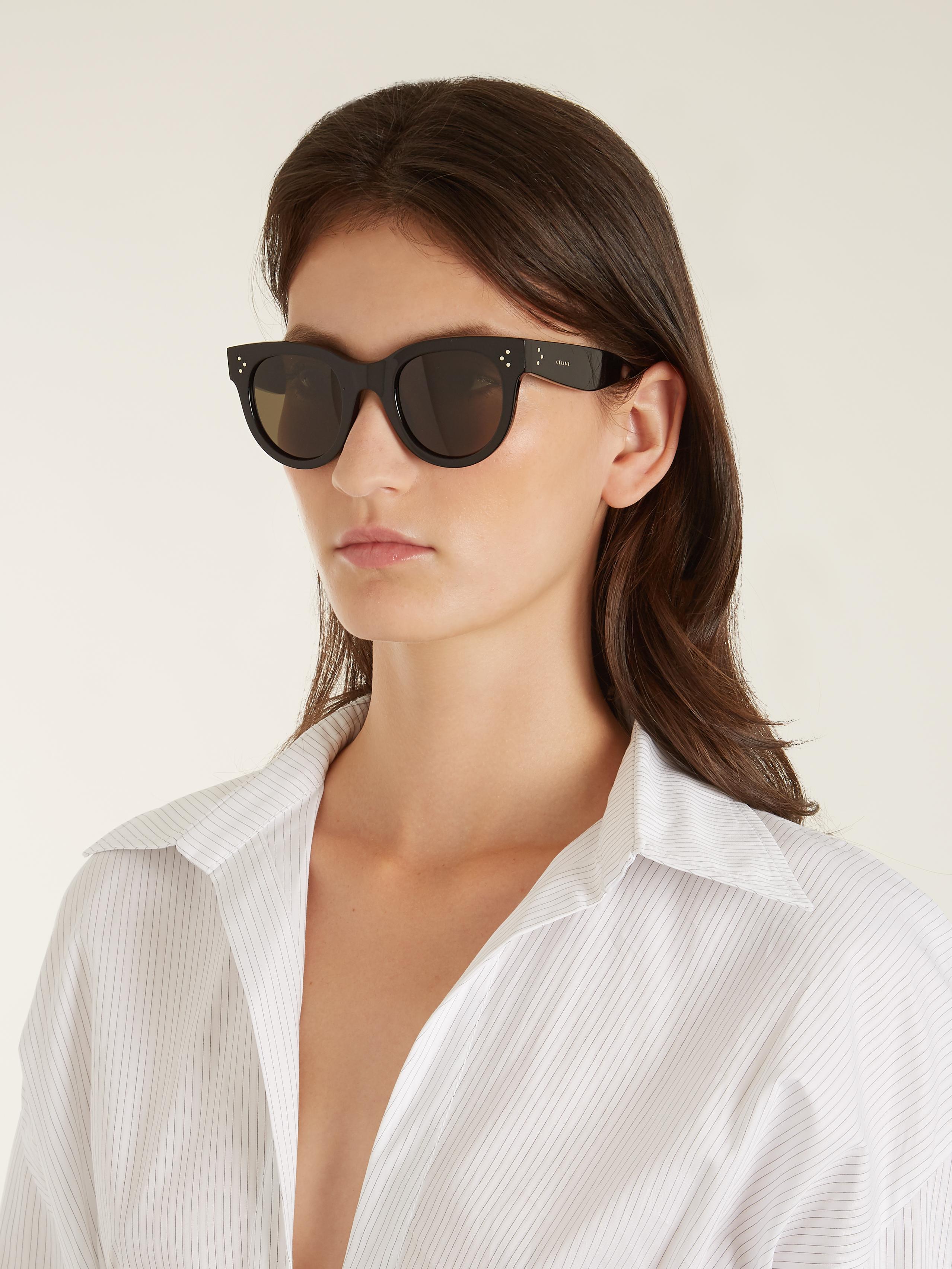 C 233 Line Baby Audrey Acetate Sunglasses In Black Lyst