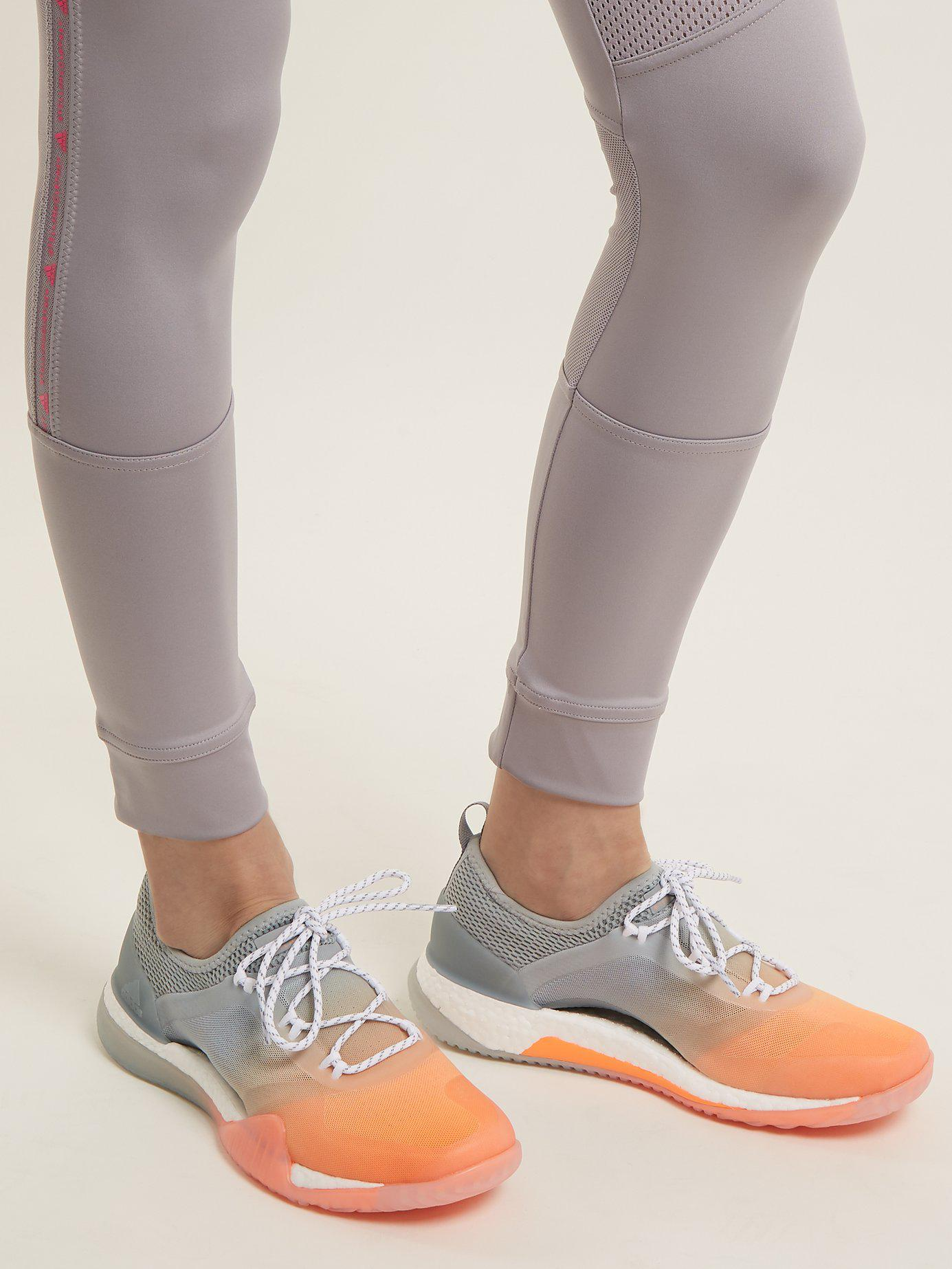 571516c091470 adidas By Stella McCartney Pureboost Tr3.0 Contrast-panel Trainers ...