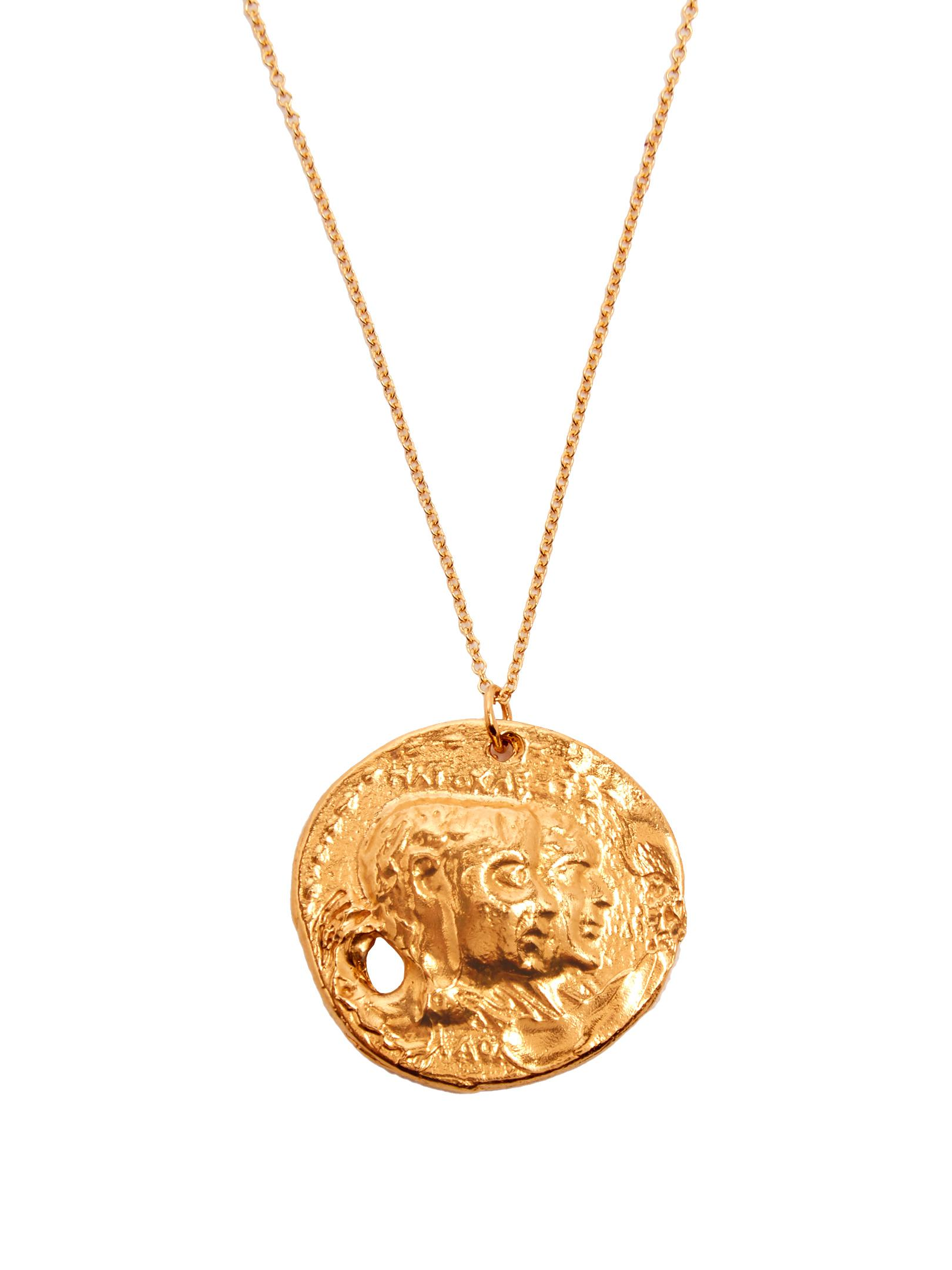 0725ff4386090 Alighieri Metallic The Other Side Of The World Gold-plated Necklace