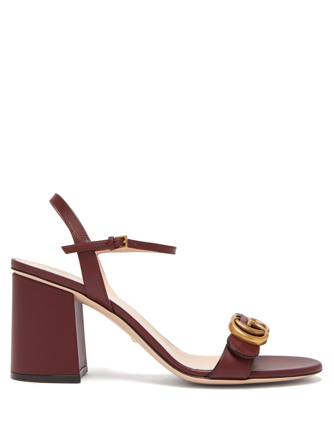 db3710edf792 Gucci. Women s Gg Marmont Leather Sandals