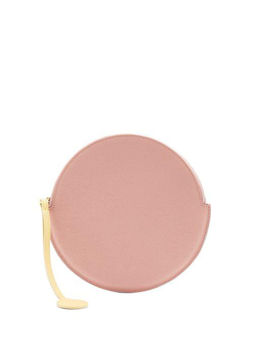 Pink round leather pouch - Pink & Purple Roksanda Ilincic