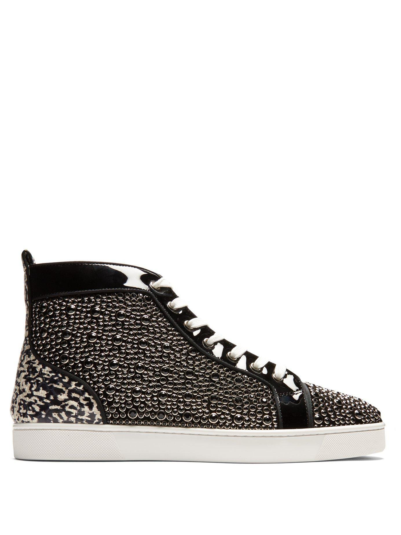 167bc1330282 Lyst - Christian Louboutin Louis Orlato High Top Patent Leather ...