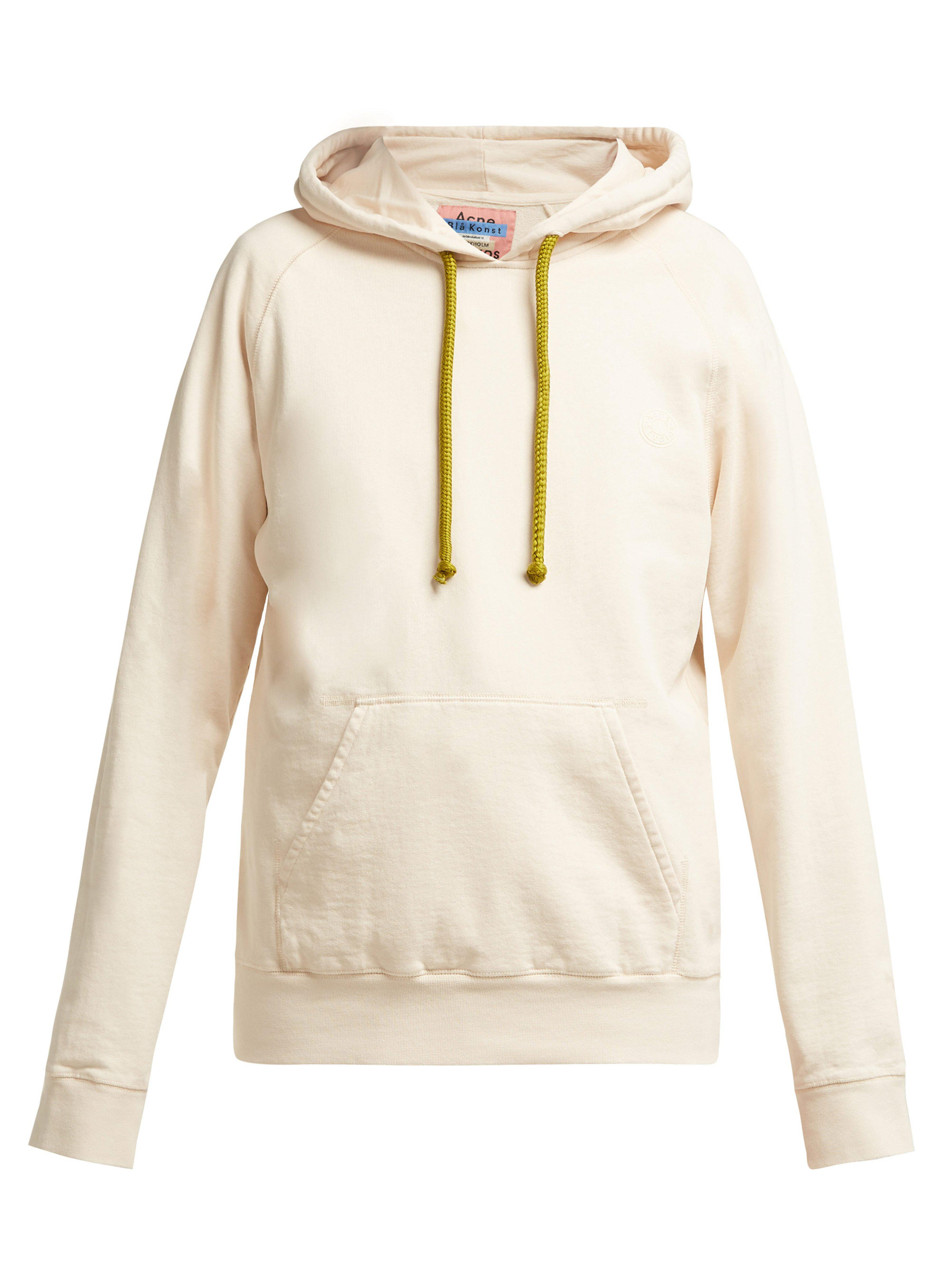Acne Studios Hooded Cotton Sweatshirt in Natural - Lyst 12866c252f