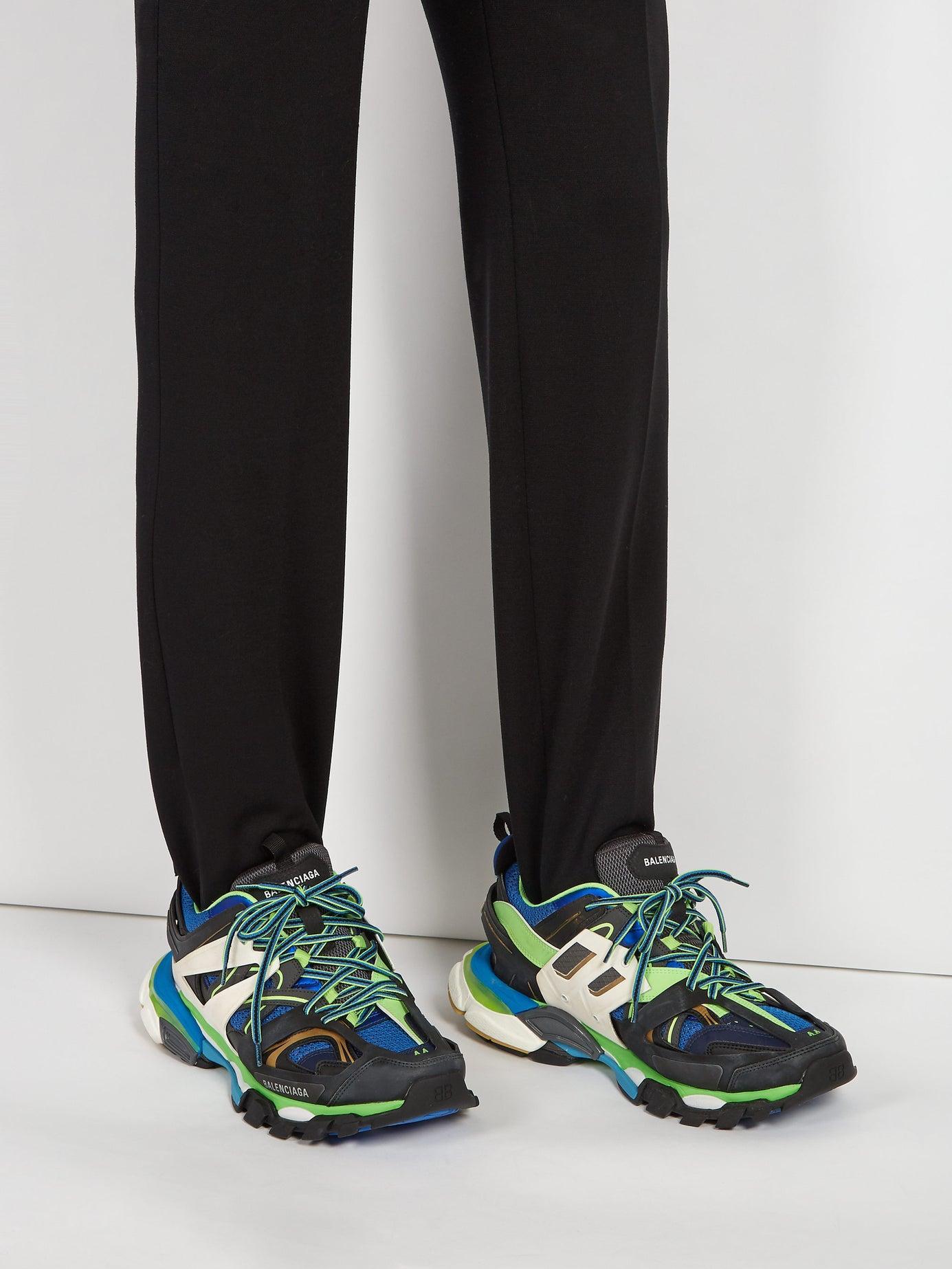 Balenciaga Track Leather, Mesh And