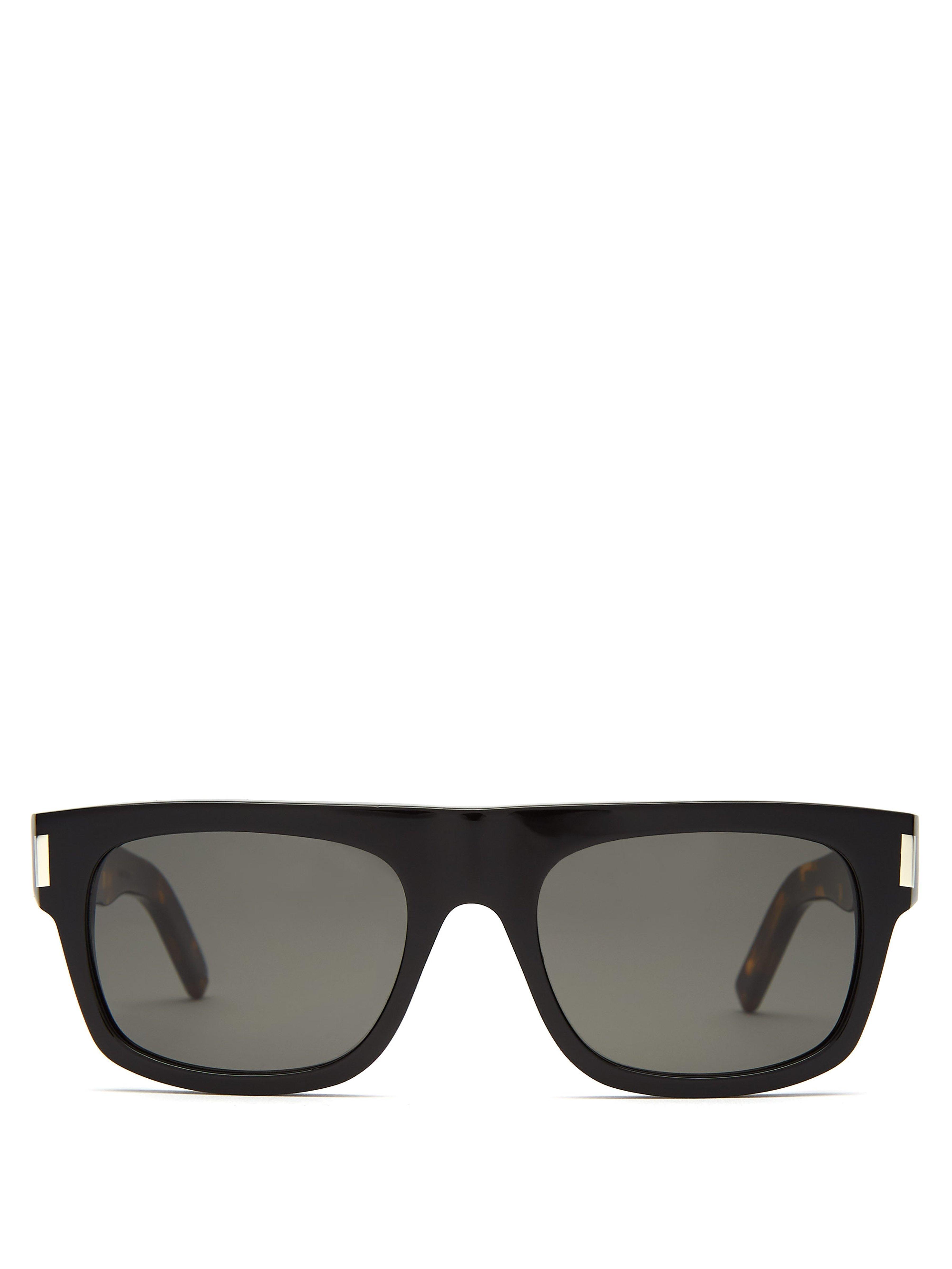 6b95e6e4c3 Saint Laurent Square Frame Acetate Sunglasses in Black for Men - Lyst