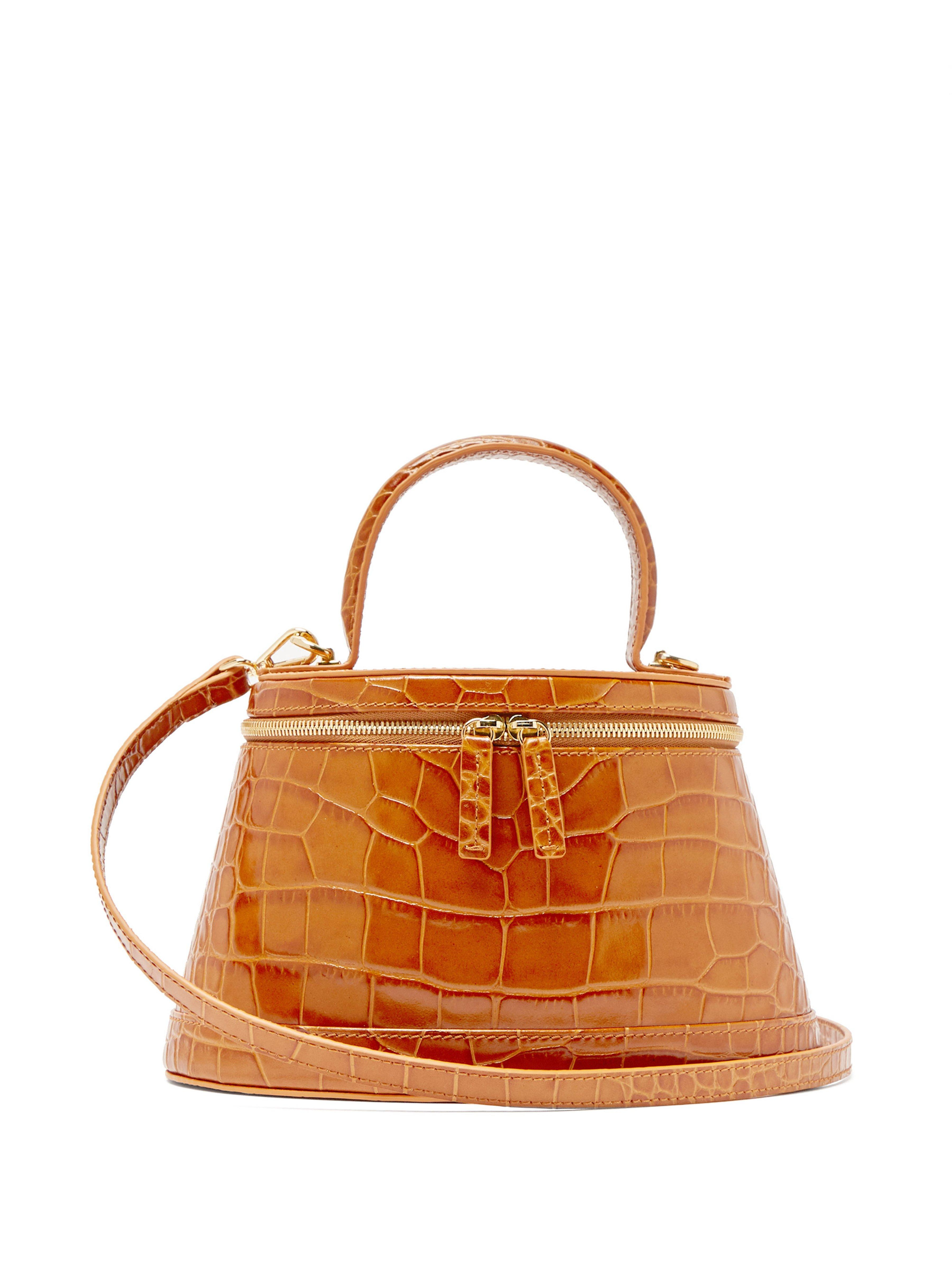 Annie Crocodile Effect Leather Bag