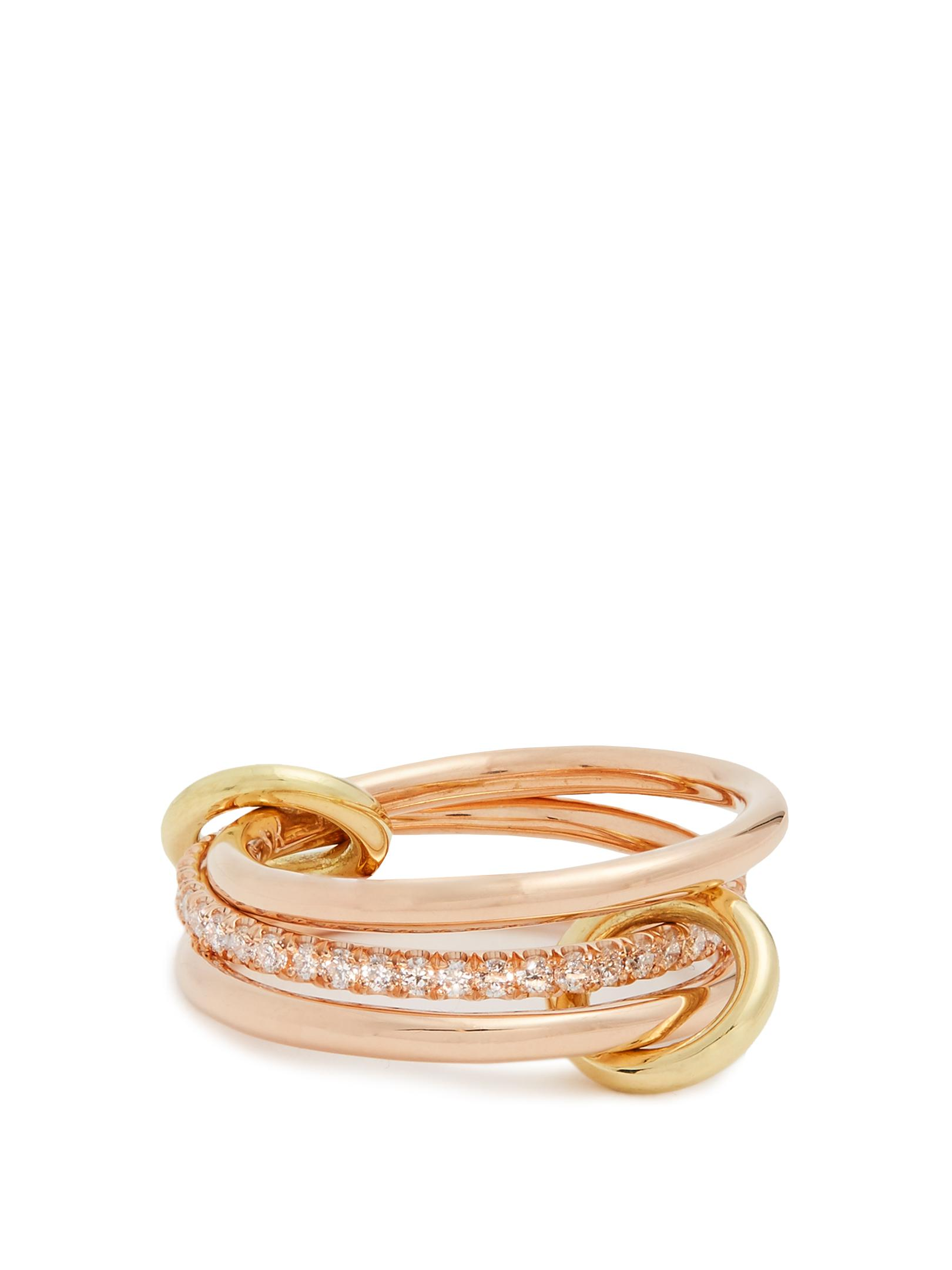 Sonny 18kt rose-gold, diamond and morganite ring Spinelli Kilcollin