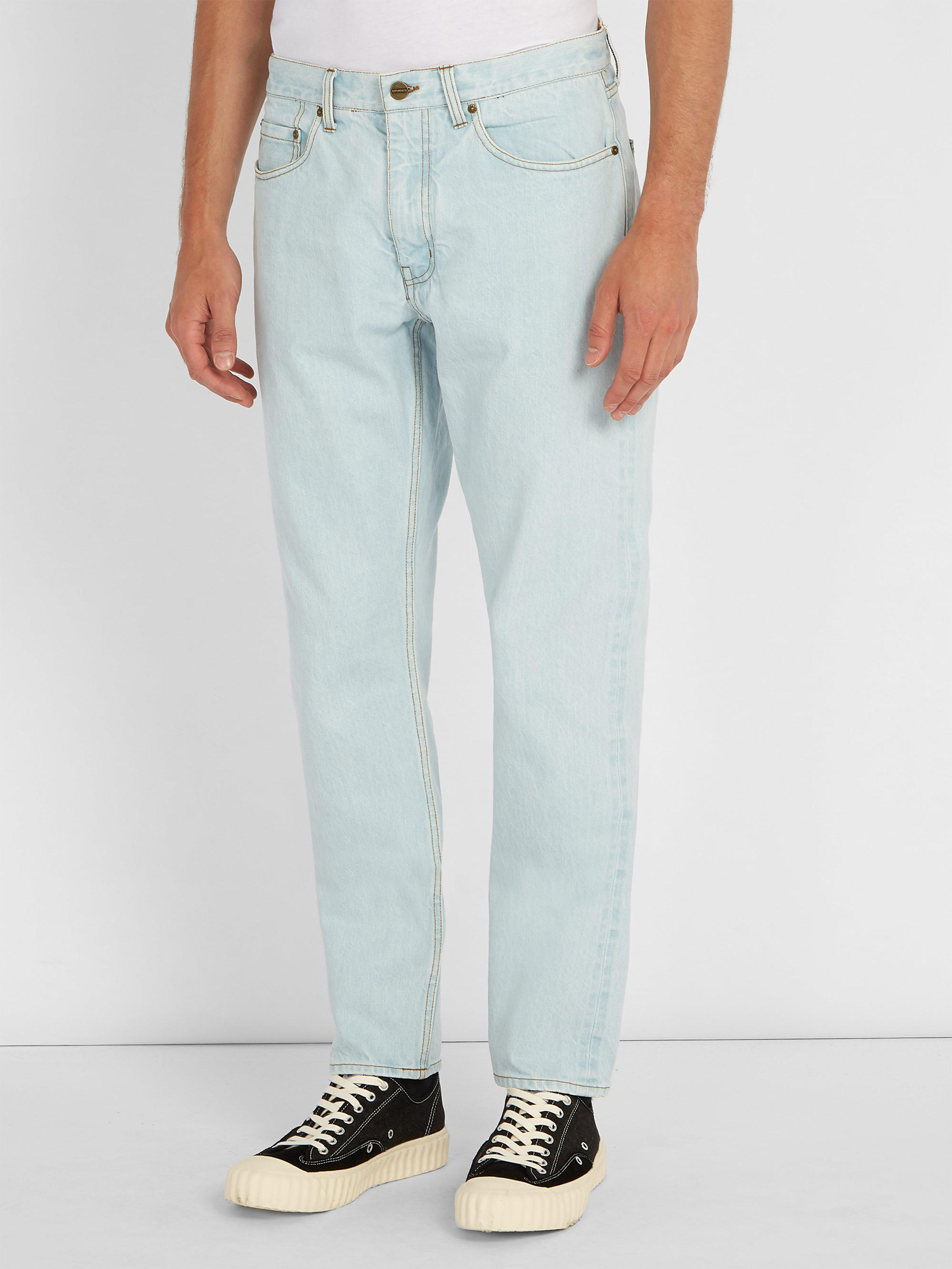 Saturdays NYC Luke Straight Leg Denim Jeans in Blue for Men