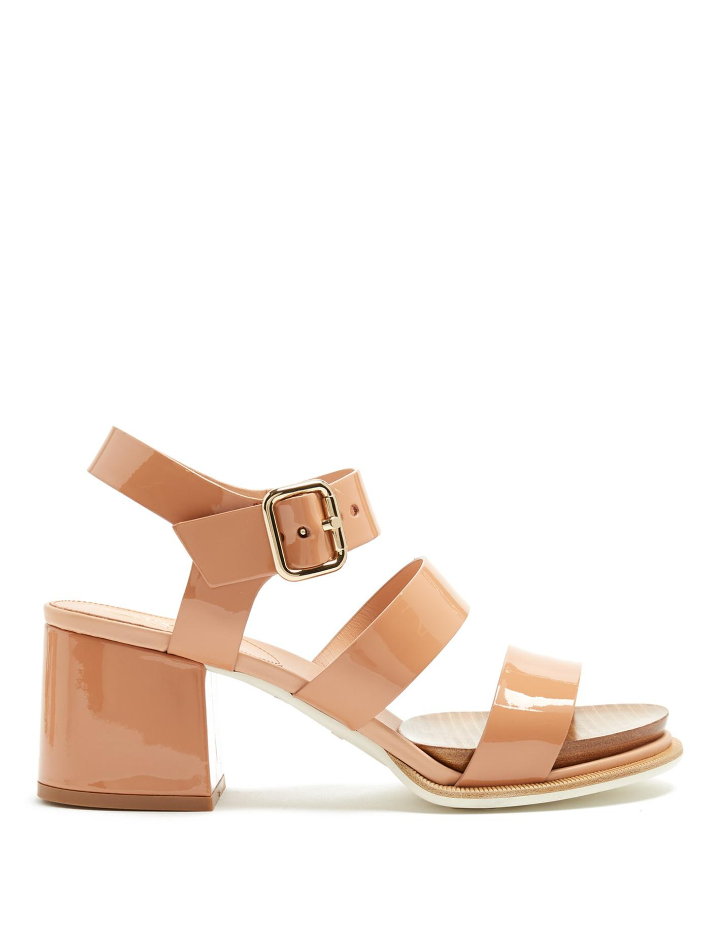 Tod's Patent Leather Heeled Sandal Brand New Unisex Cheap Online Sale Comfortable Cheap Sale Low Shipping Free Shipping Footlocker Sale Limited Edition 6wRzlWTtTd