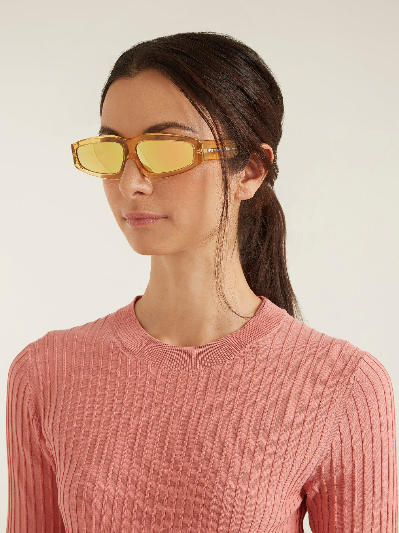 9c448c6adeba4 Lyst - Marques Almeida Angular Frame Acetate Sunglasses in Metallic