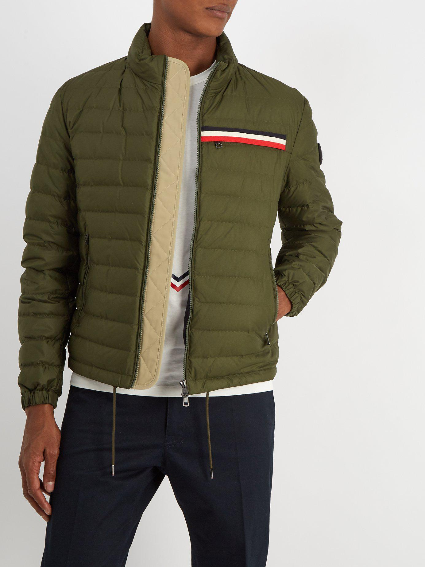 644a5ce13a7a Moncler Edgard Hooded Quilted Down Jacket in Green for Men - Lyst