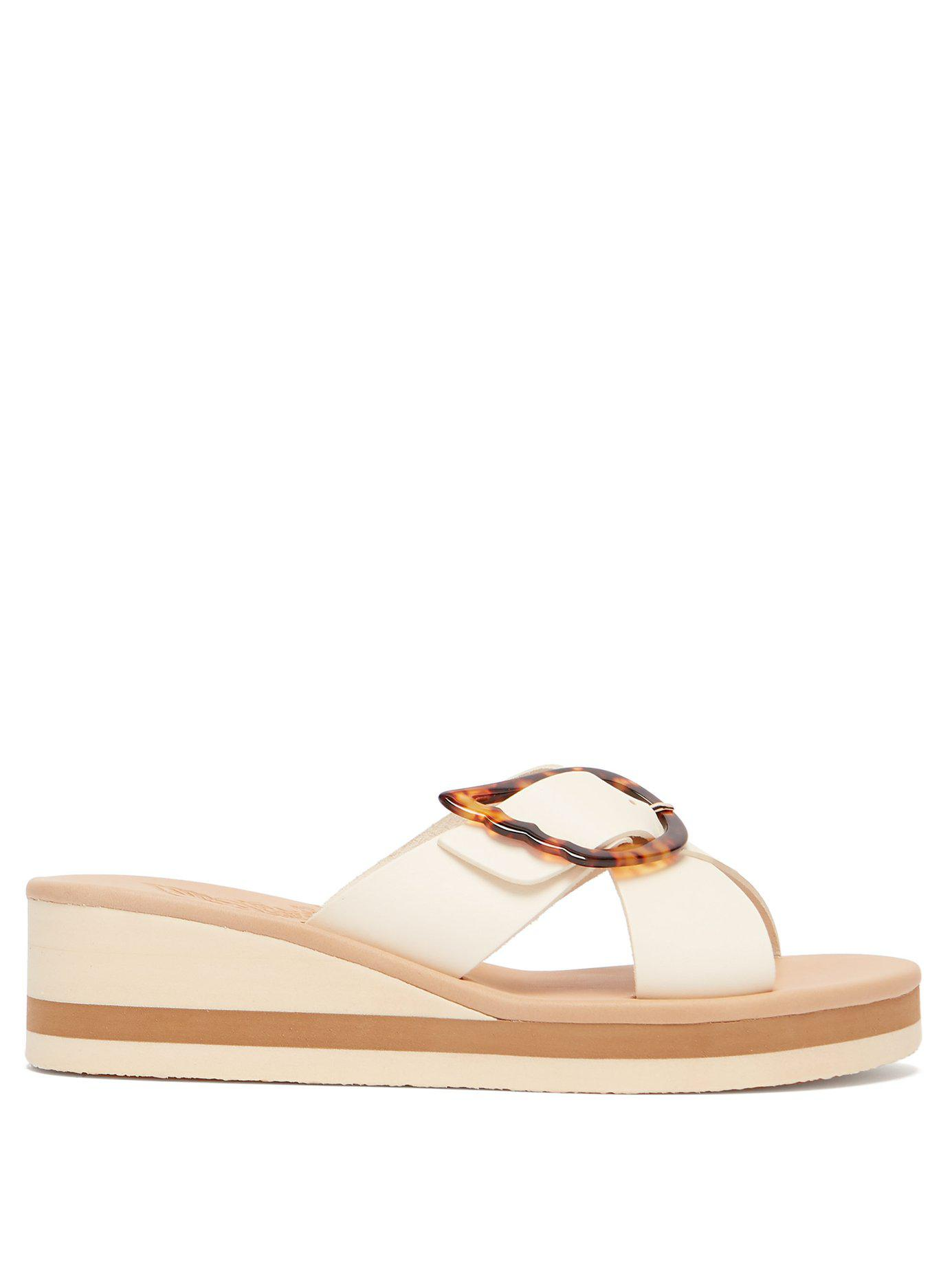 2623530f1 Lyst - Ancient Greek Sandals Thais Rainbow Leather Wedges in White