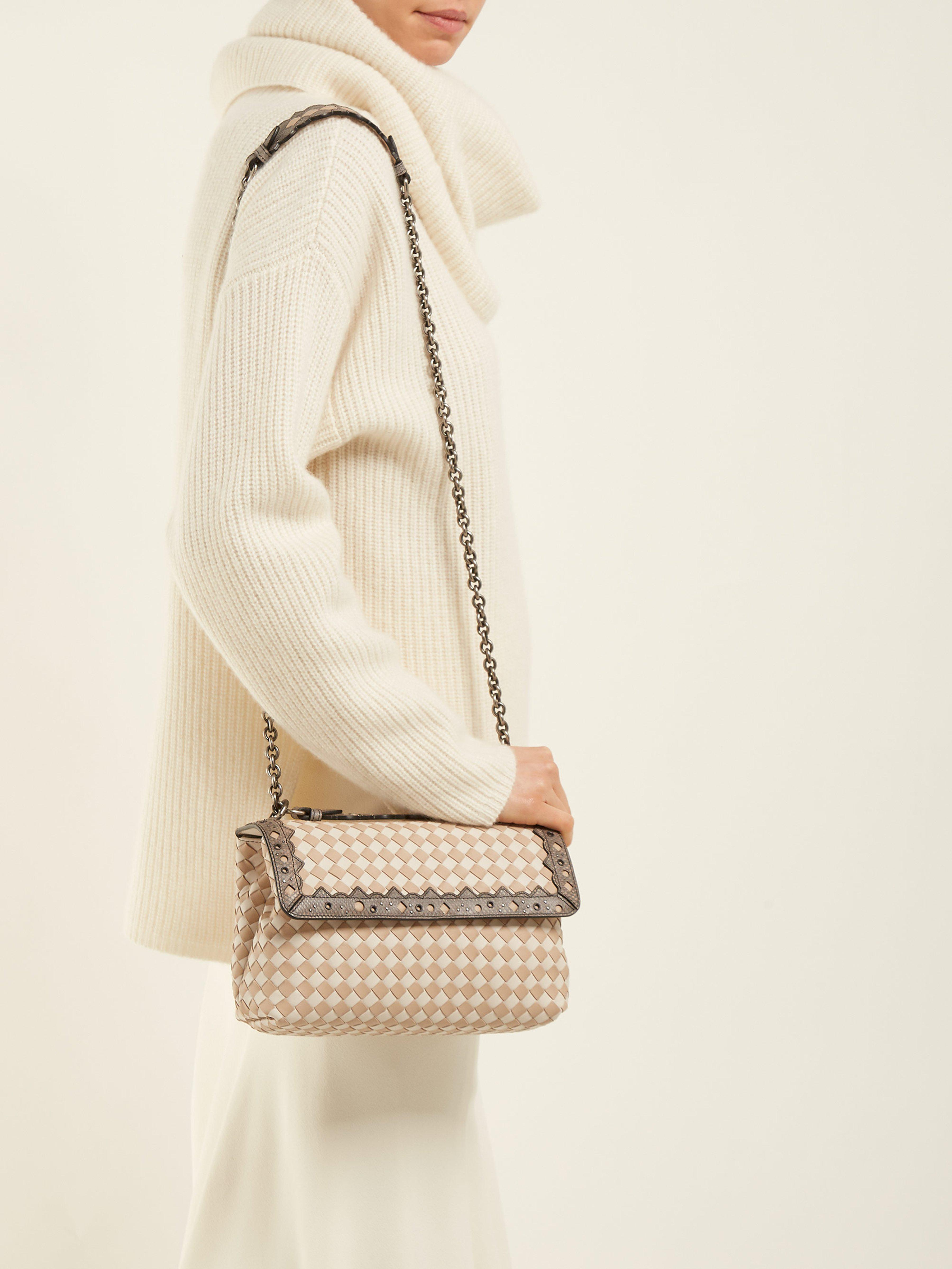 456ed2cc83 Bottega Veneta - Multicolor Olimpia Small Intrecciato Leather Cross Body Bag  - Lyst. View fullscreen