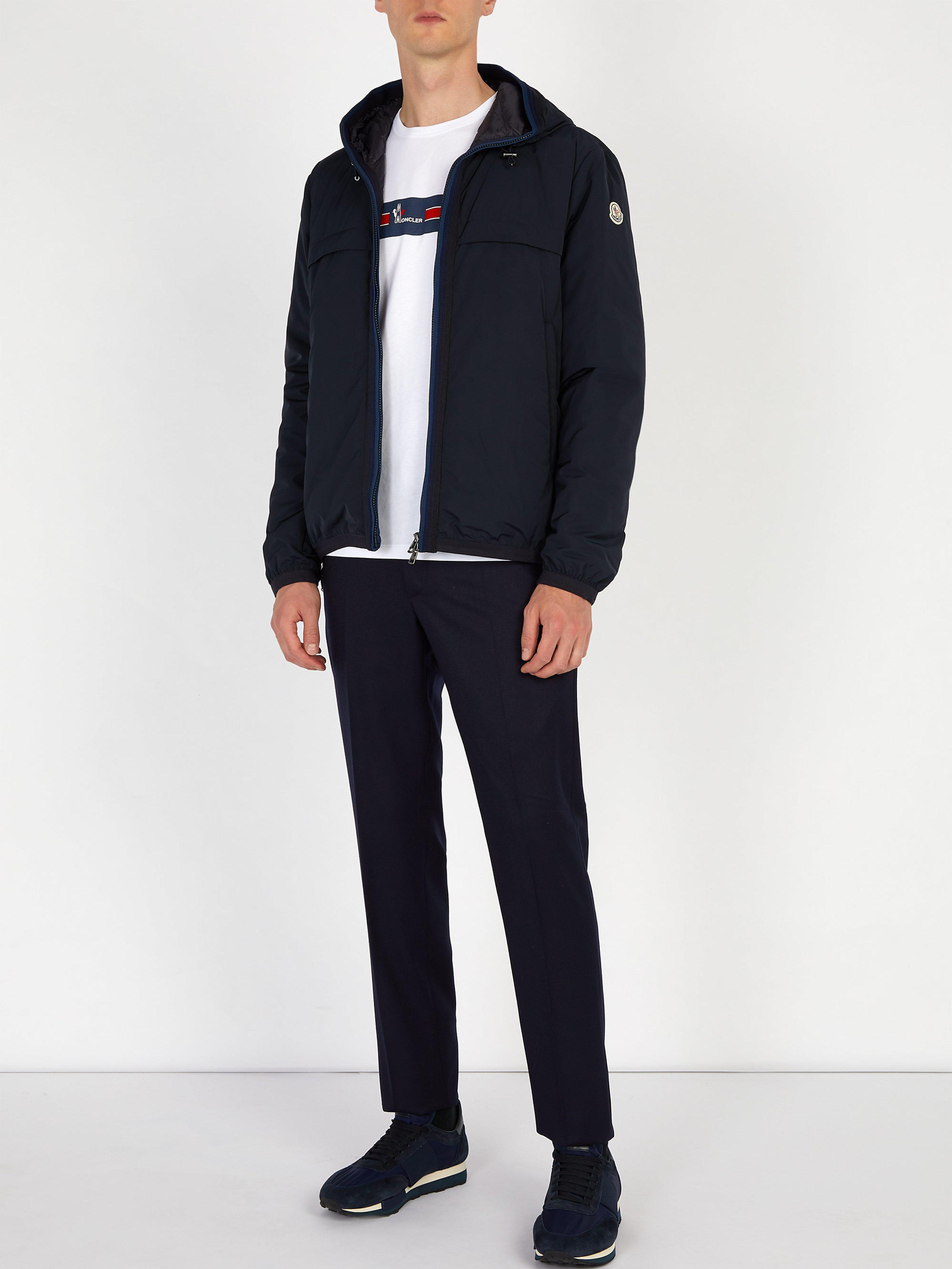 ab913048a Moncler Nash Hooded Down Jacket in Blue for Men - Lyst