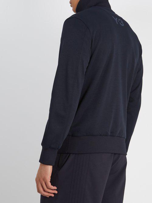 Y-3 Cotton Zip-through Track Jacket in Navy (Blue) for Men