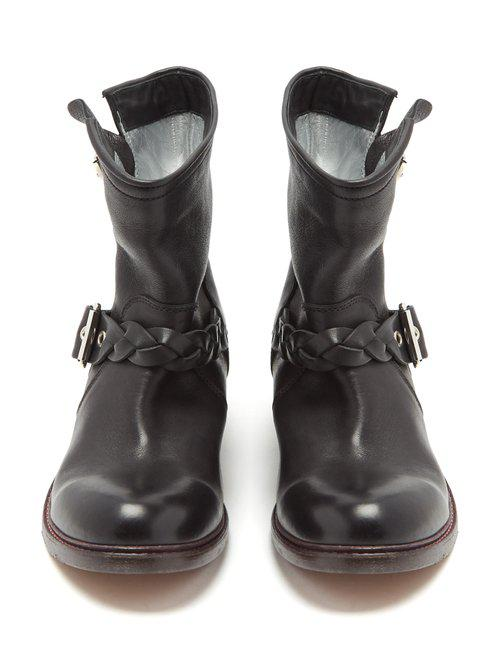 Golden Goose Deluxe Brand Karen Leather Ankle Boots in Black