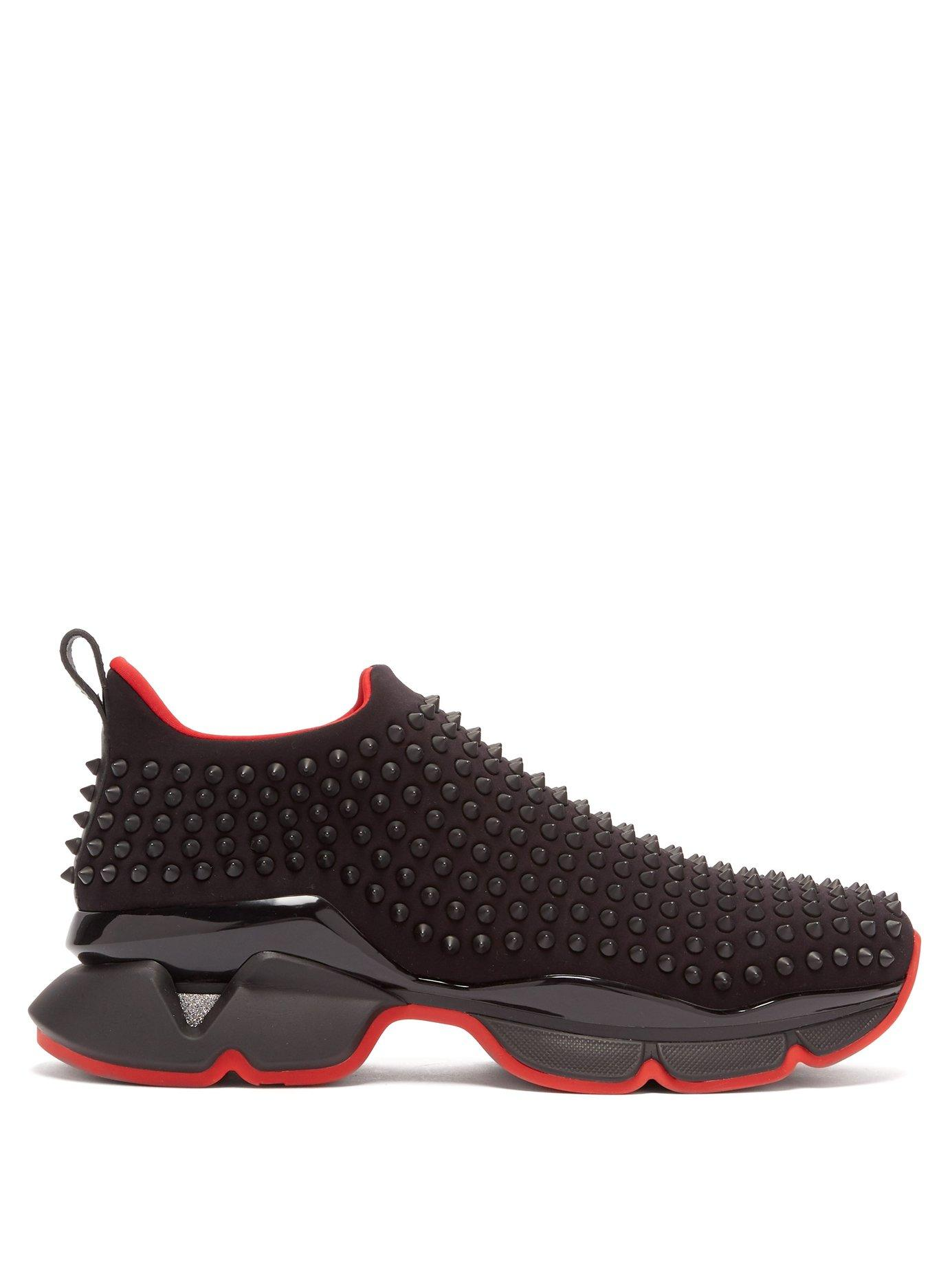 new arrival 7af92 104f2 Men's Black Spike Embellished Neoprene Sock Sneakers