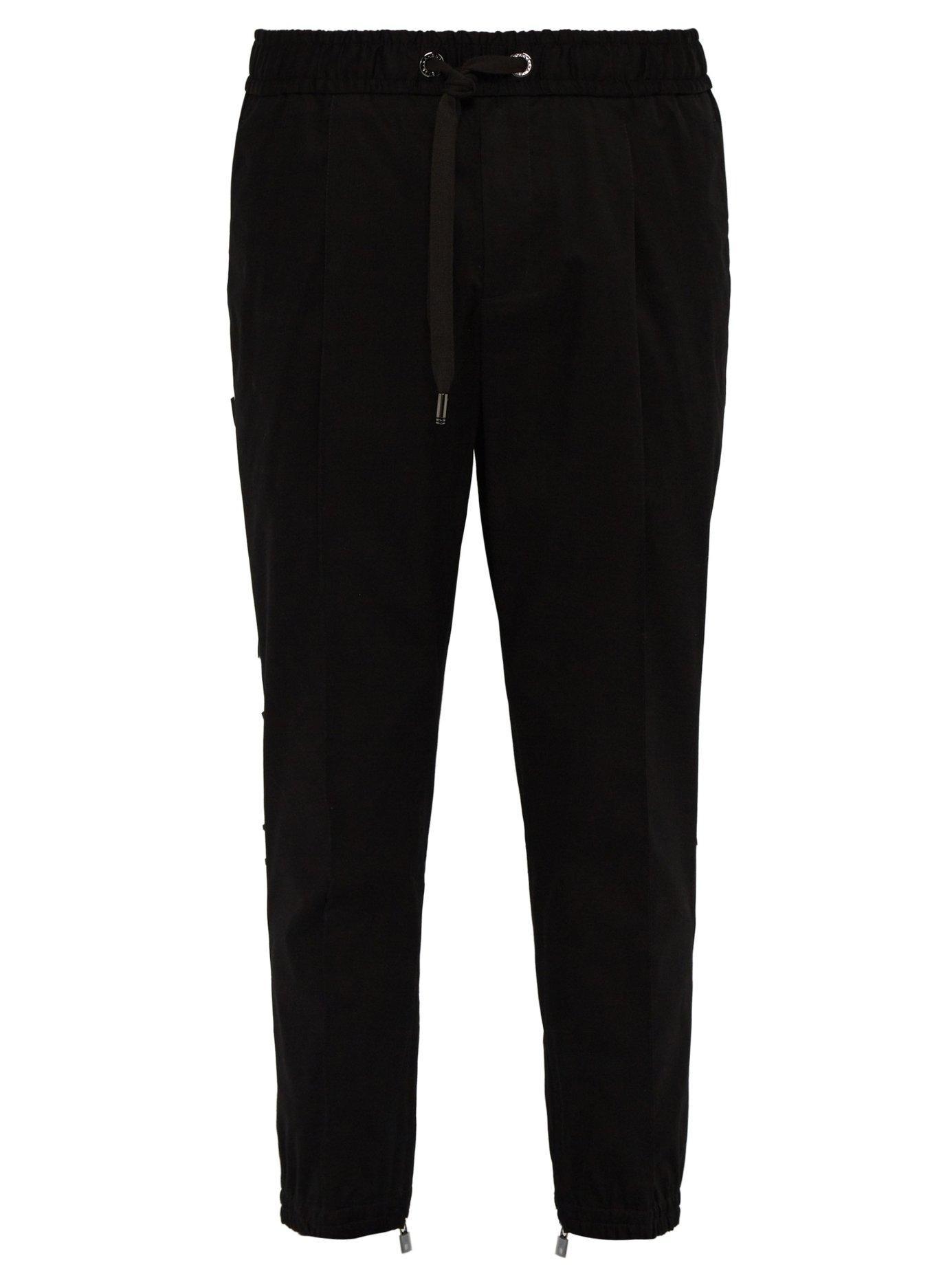 5b39564196b8 Lyst - Dolce   Gabbana 3d Logo Panel Tailored Track Pants in Black ...