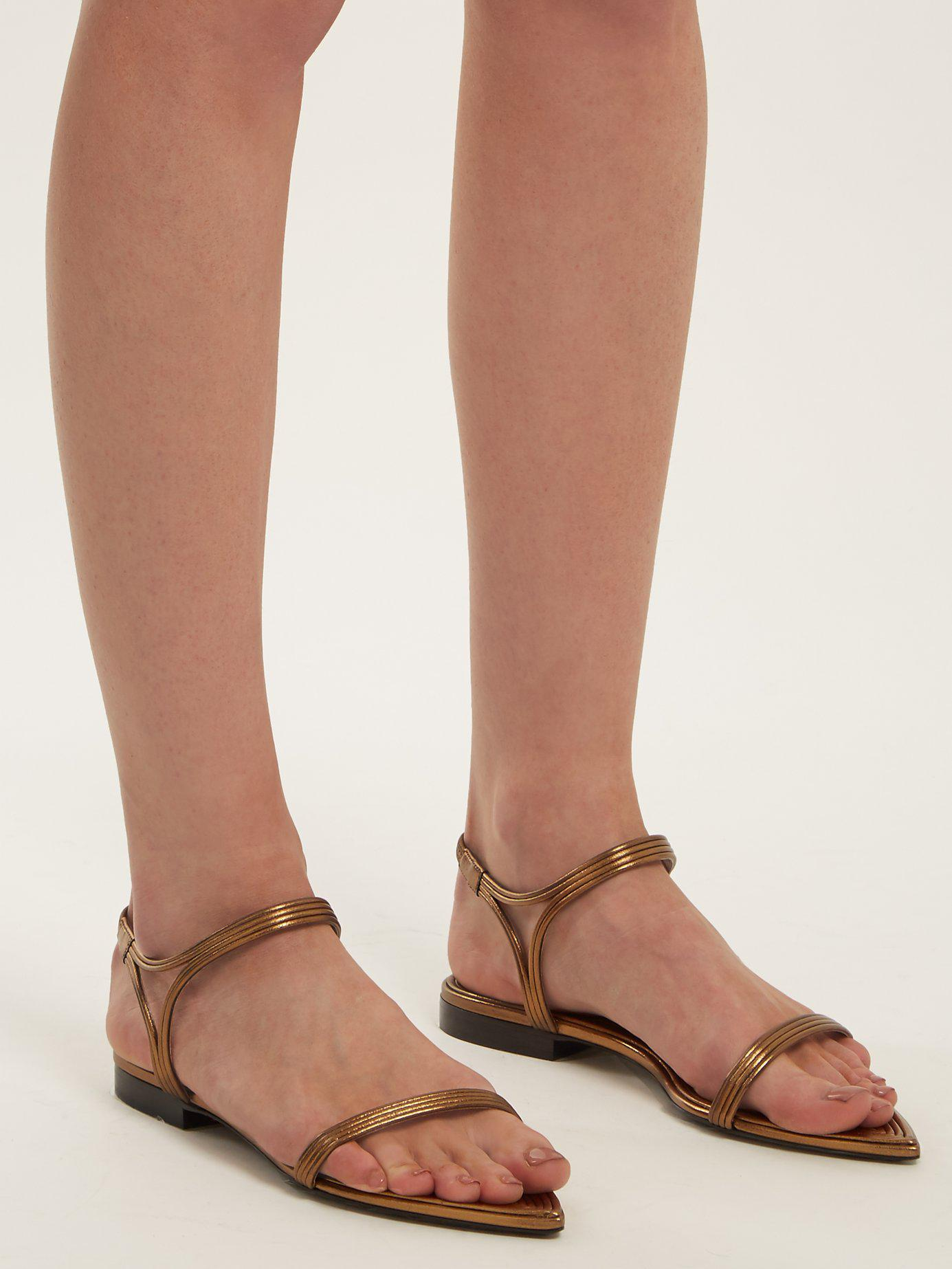 Talitha Leather-trimmed Sandals
