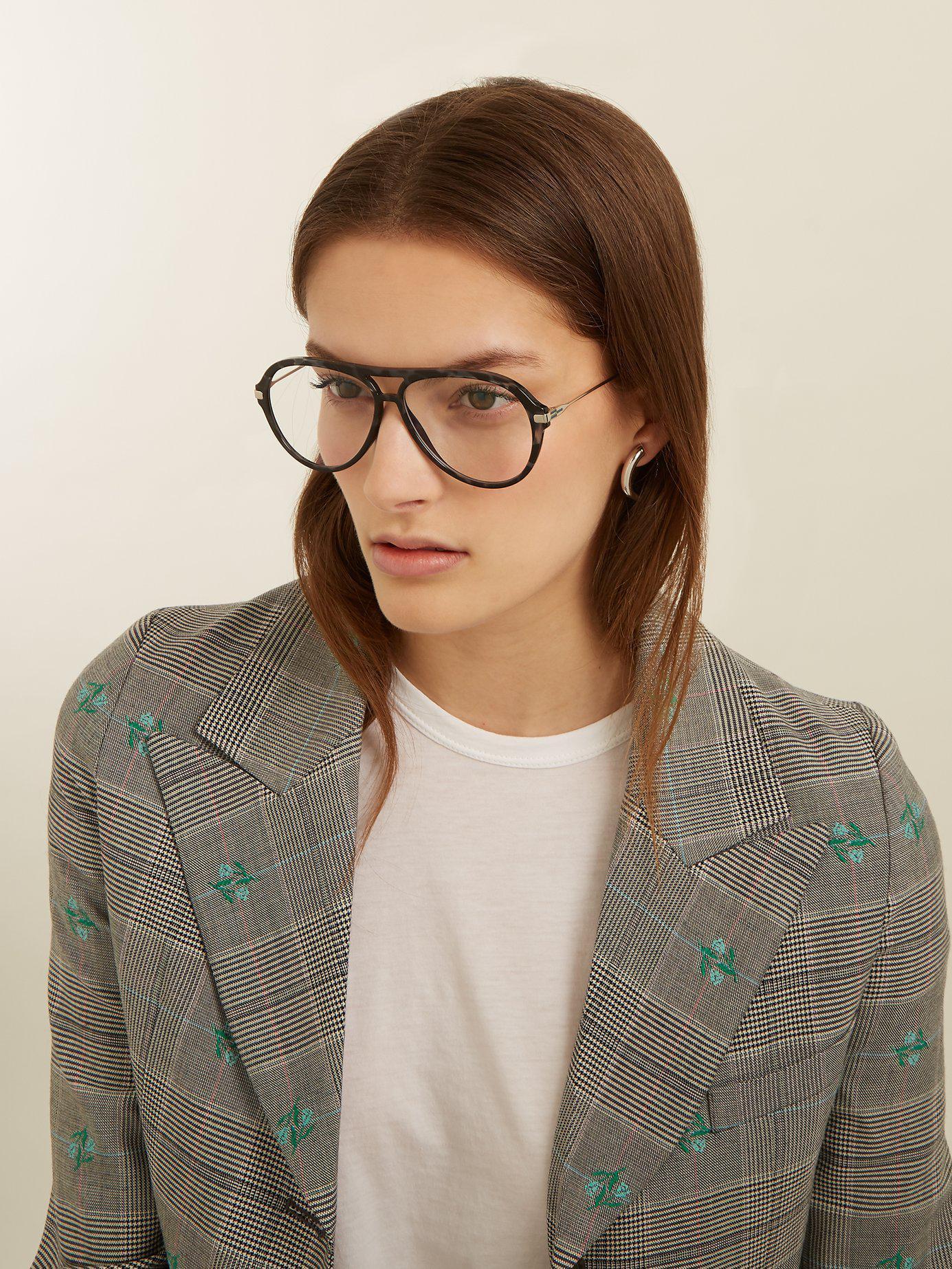 c0b9b0bff1d0 Lyst - Meeyye Symi Tortoiseshell Glasses in Black