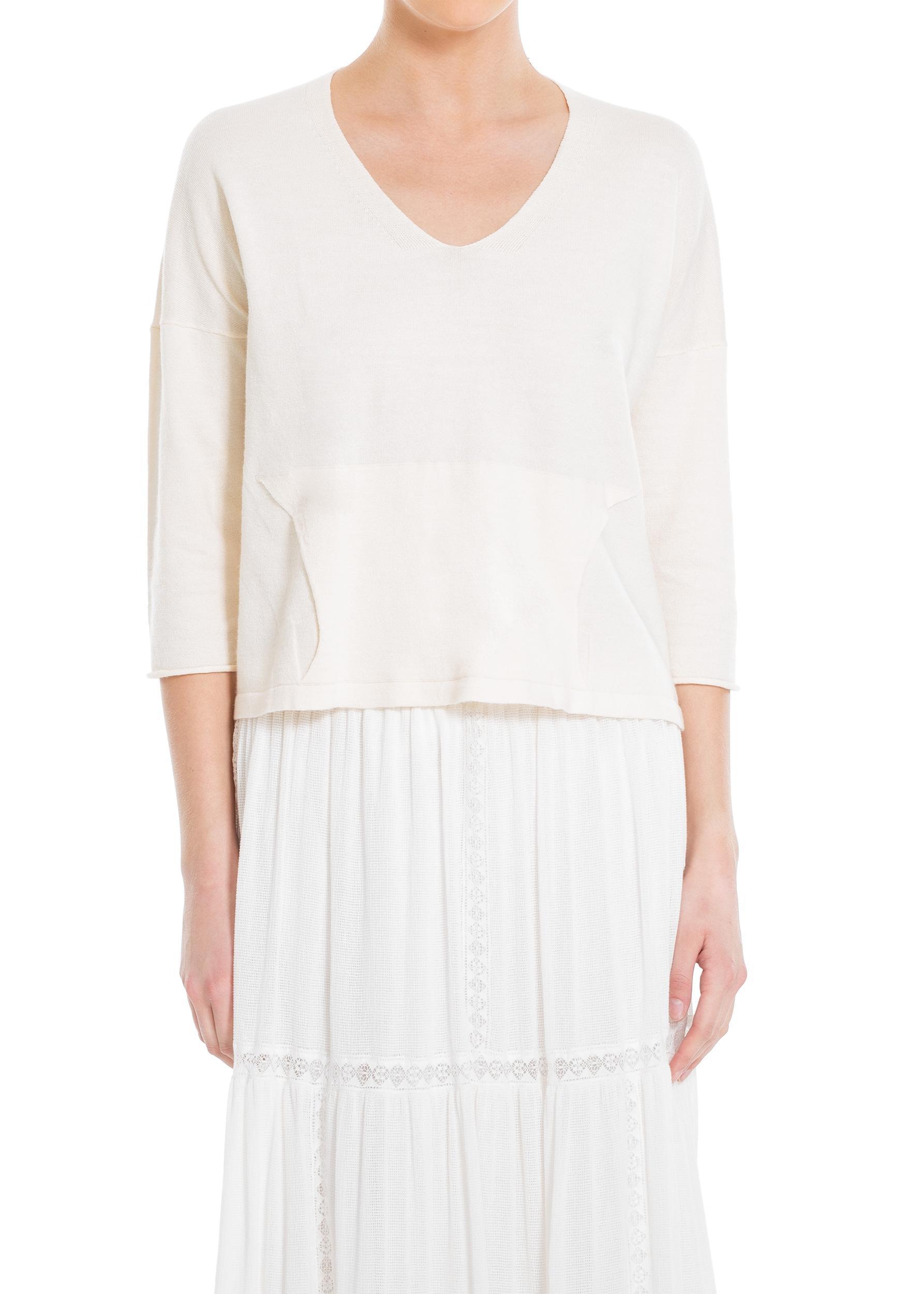 White Ramie Sweater 45