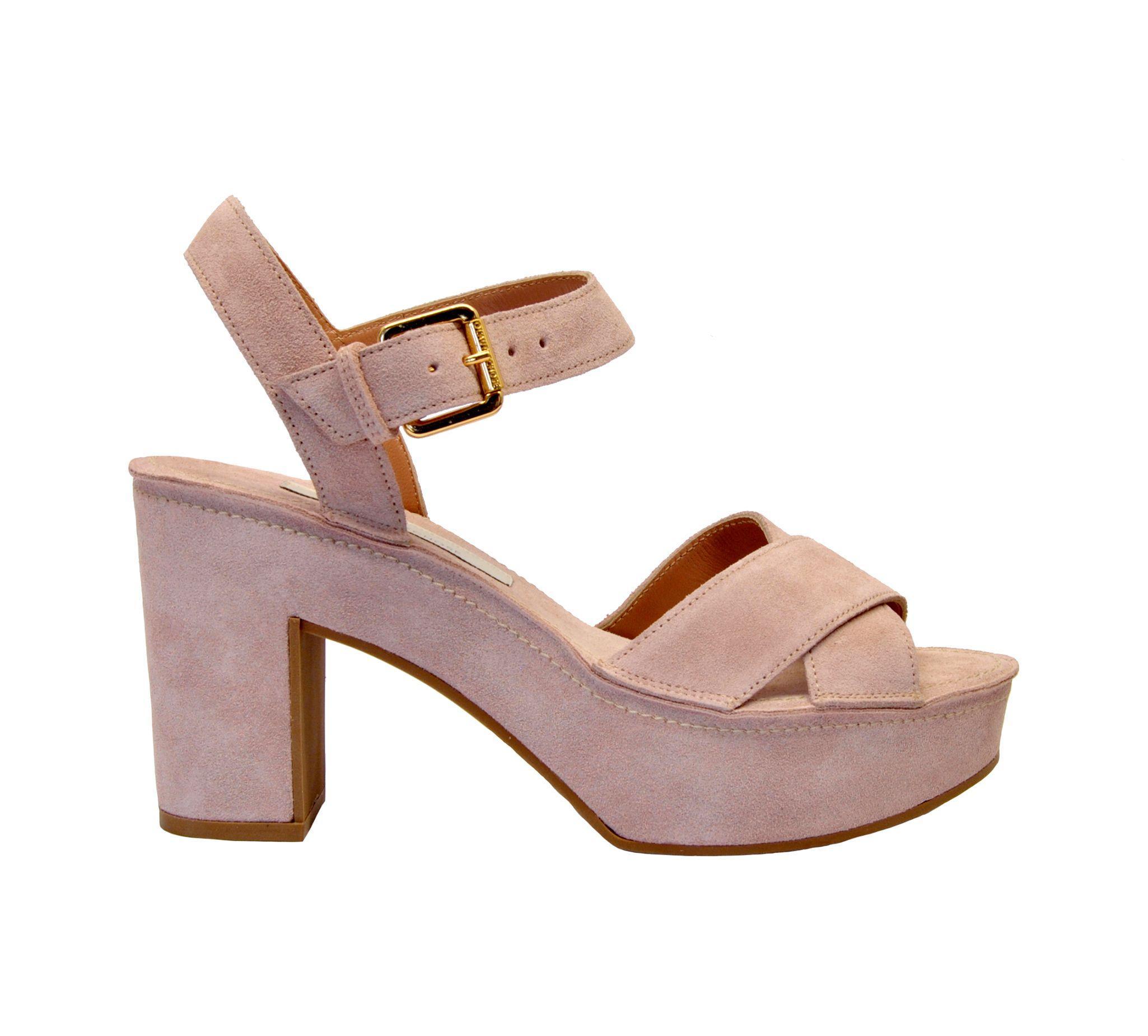 dcd226cd407 L'Autre Chose Pink Suede Sandals in Pink - Lyst