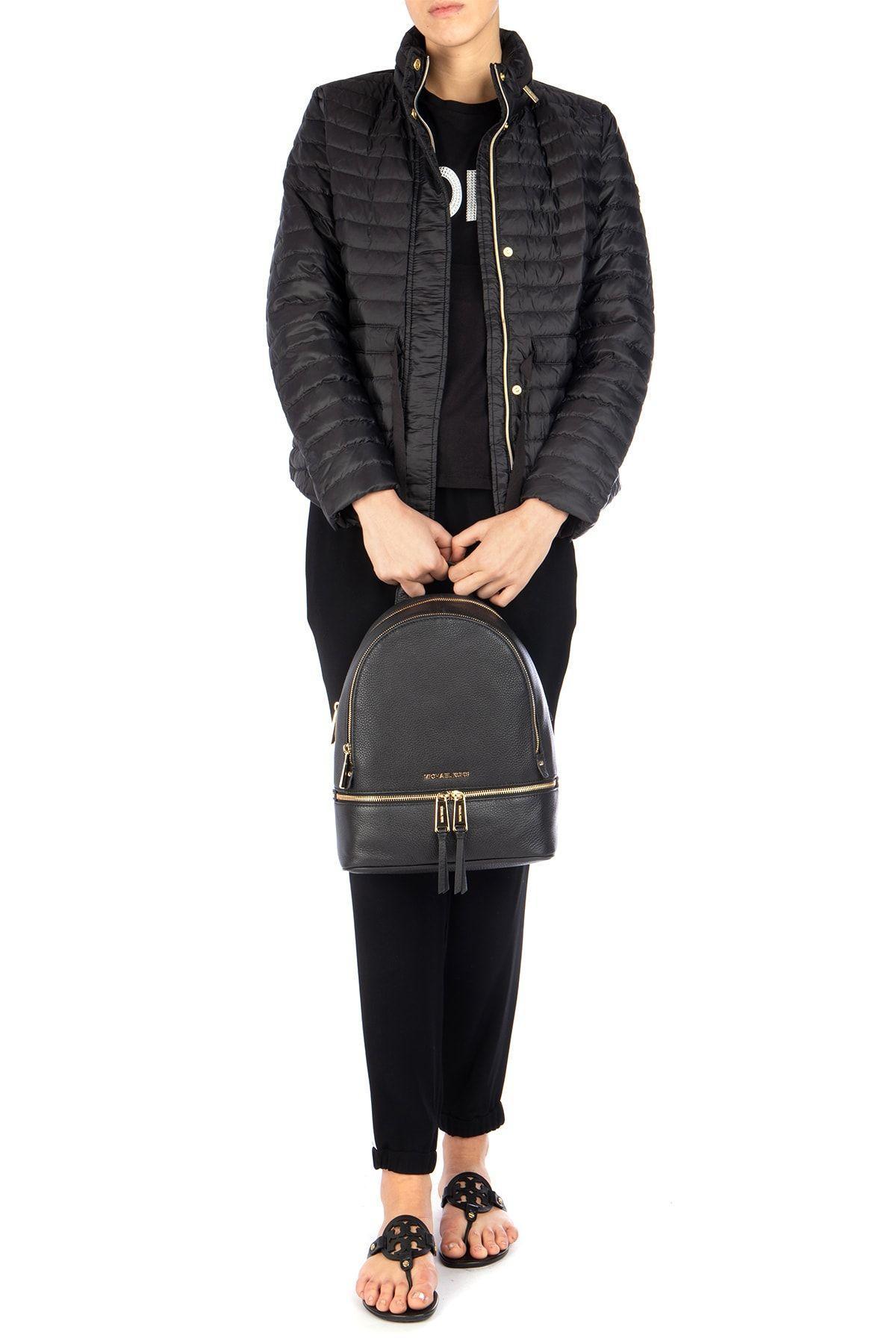 Michael Kors Michael Rhea Pebble Leather Backpack in Black - Save 27%