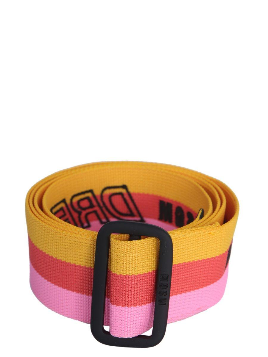 622ada6cc99 Lyst - MSGM Multicolor Polyester Belt in Orange