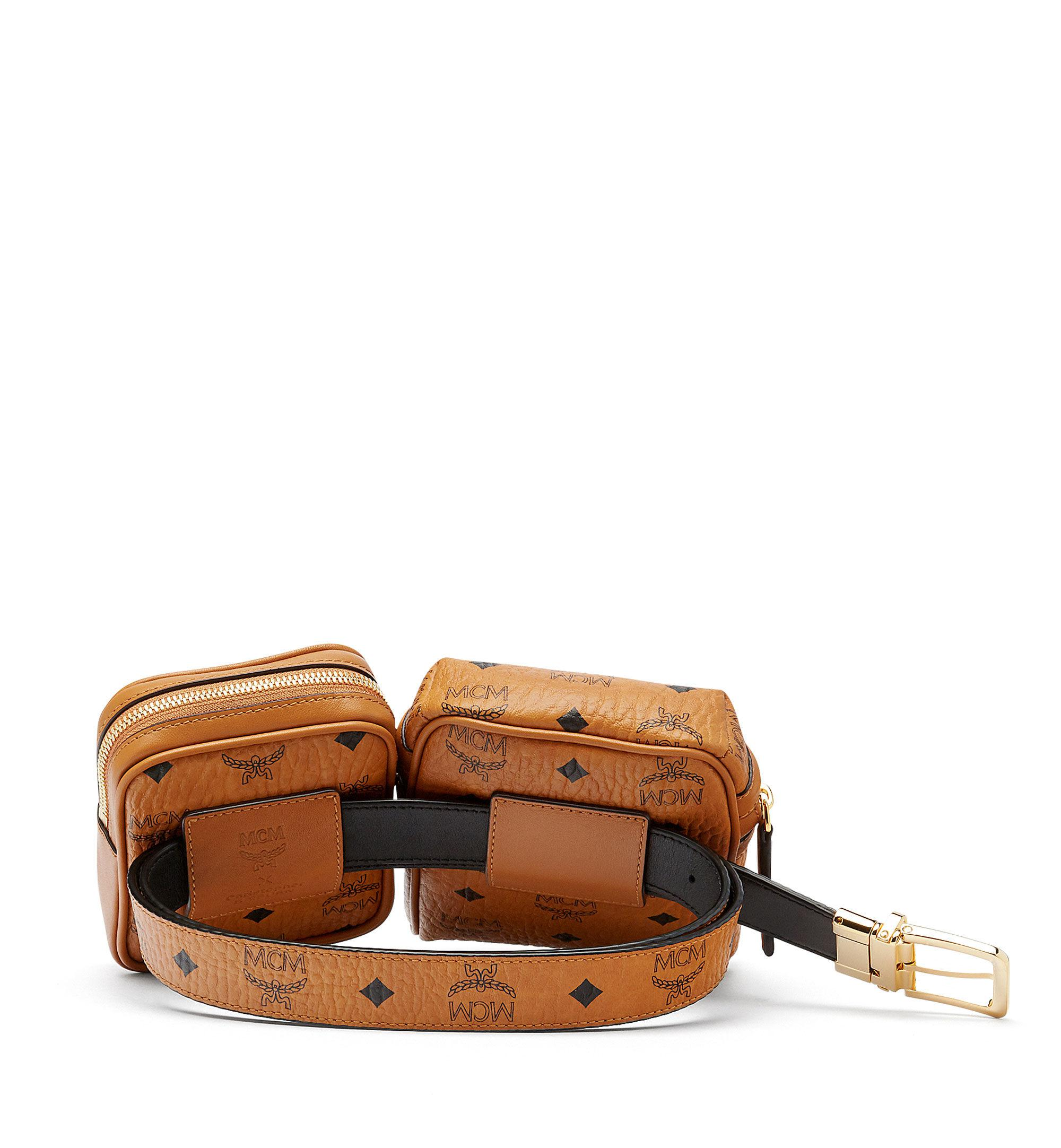 MCM Stark Double Logo Belt Bag pKPkI