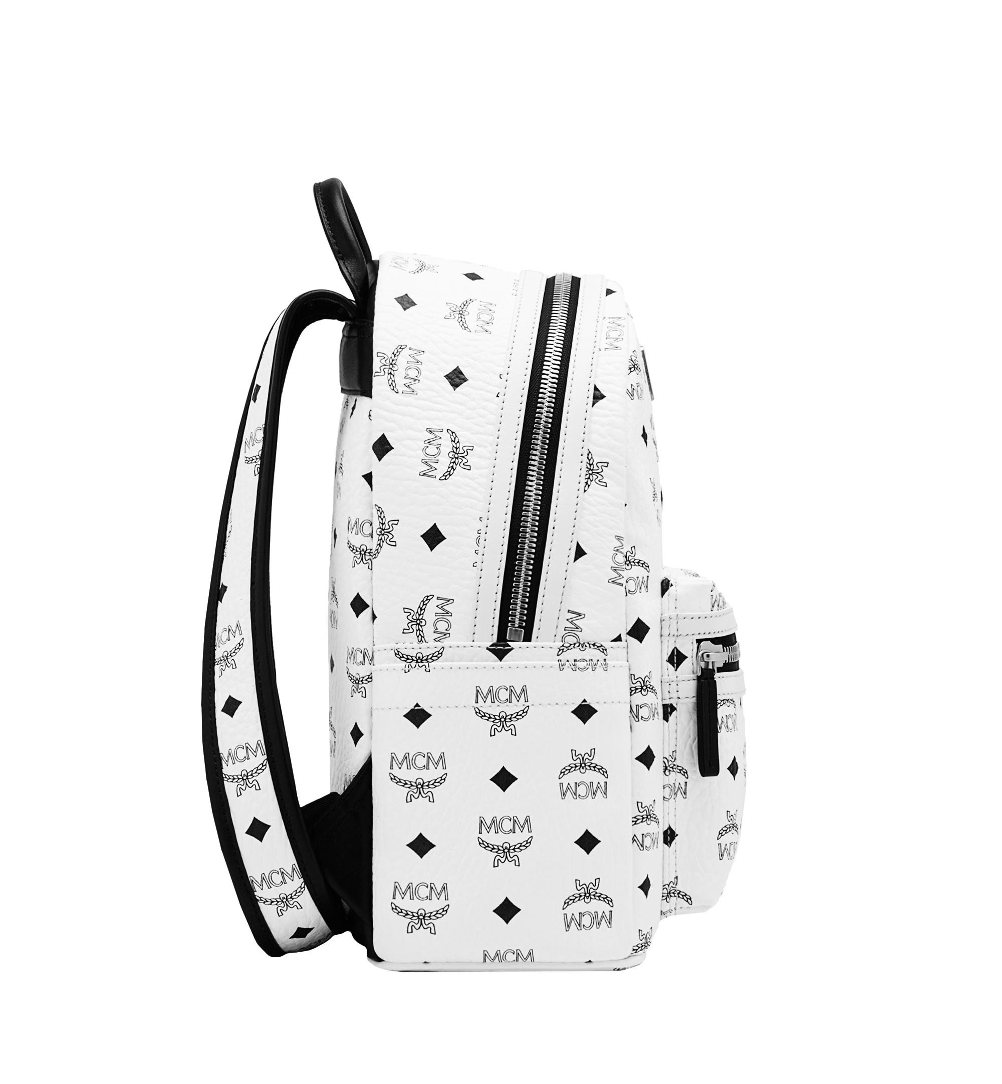 MCM Canvas Stark Backpack in White