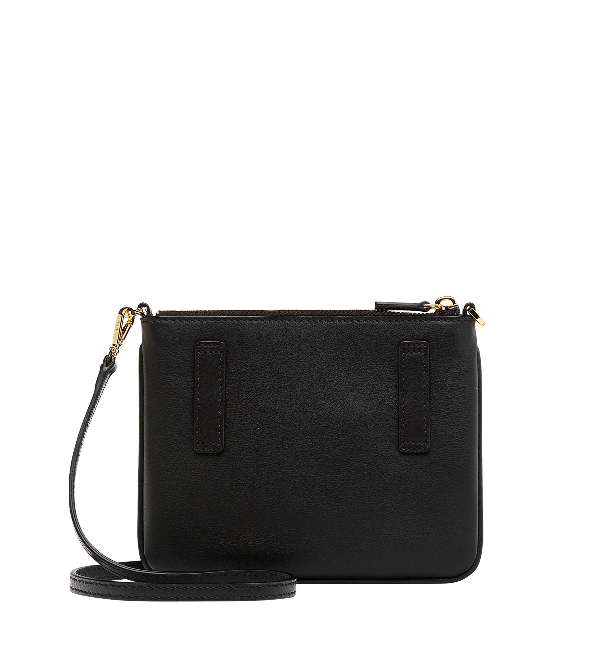 MCM Leather Crossbody Pouch In Cassette in Black