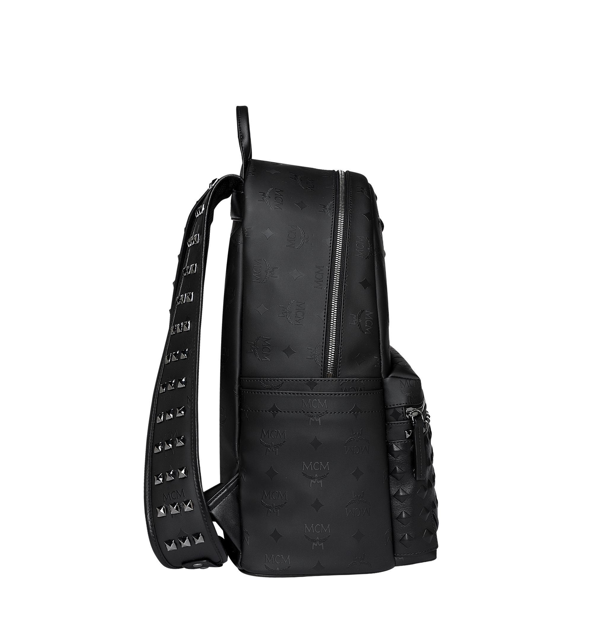 MCM Leather Stark Studs Backpack In Odeon in Black for Men