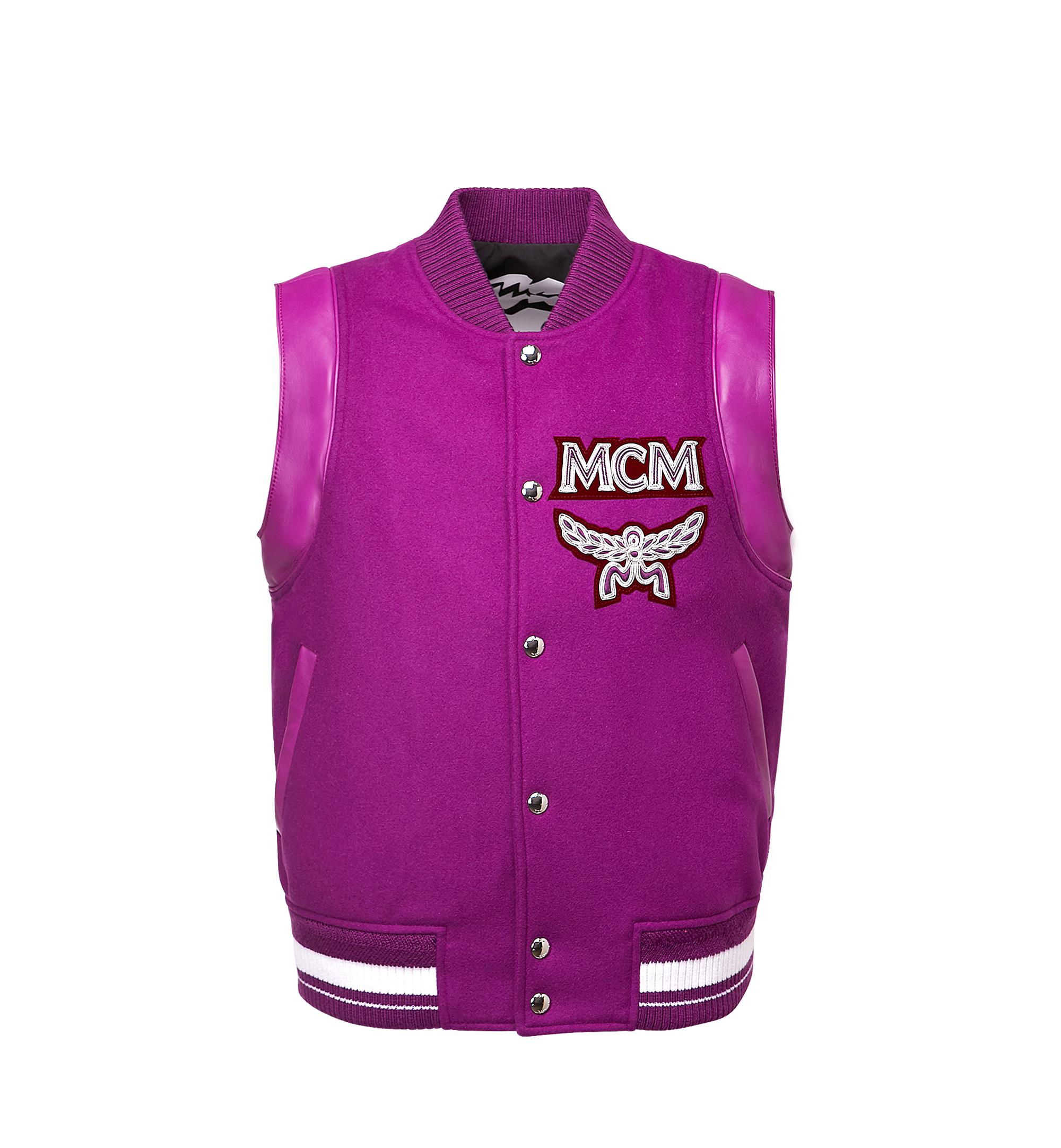 MCM Wool Stadium Jacket in Purple for Men