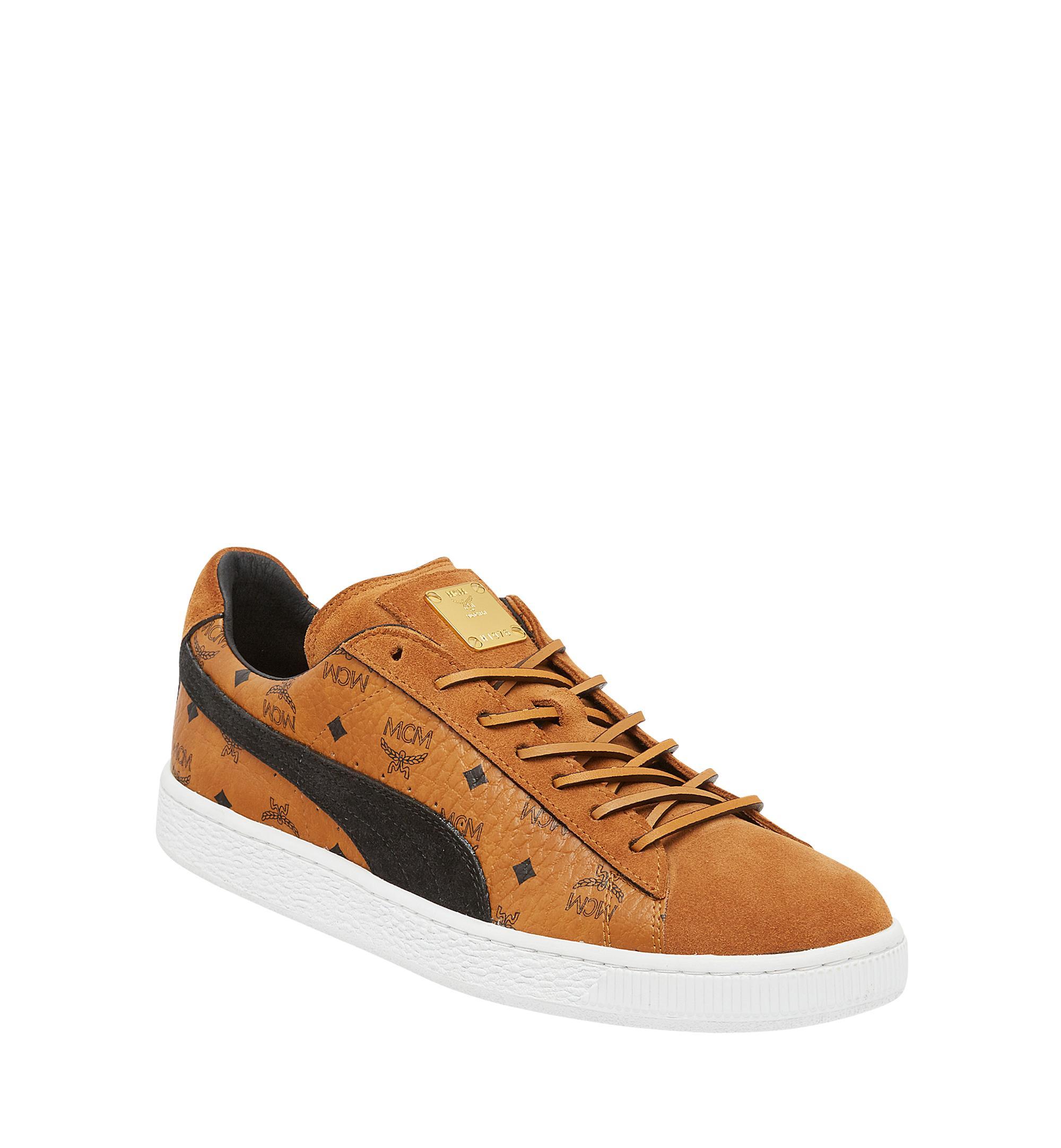 MCM Puma X Suede Classic Sneakers in Cognac (Brown) Lyst