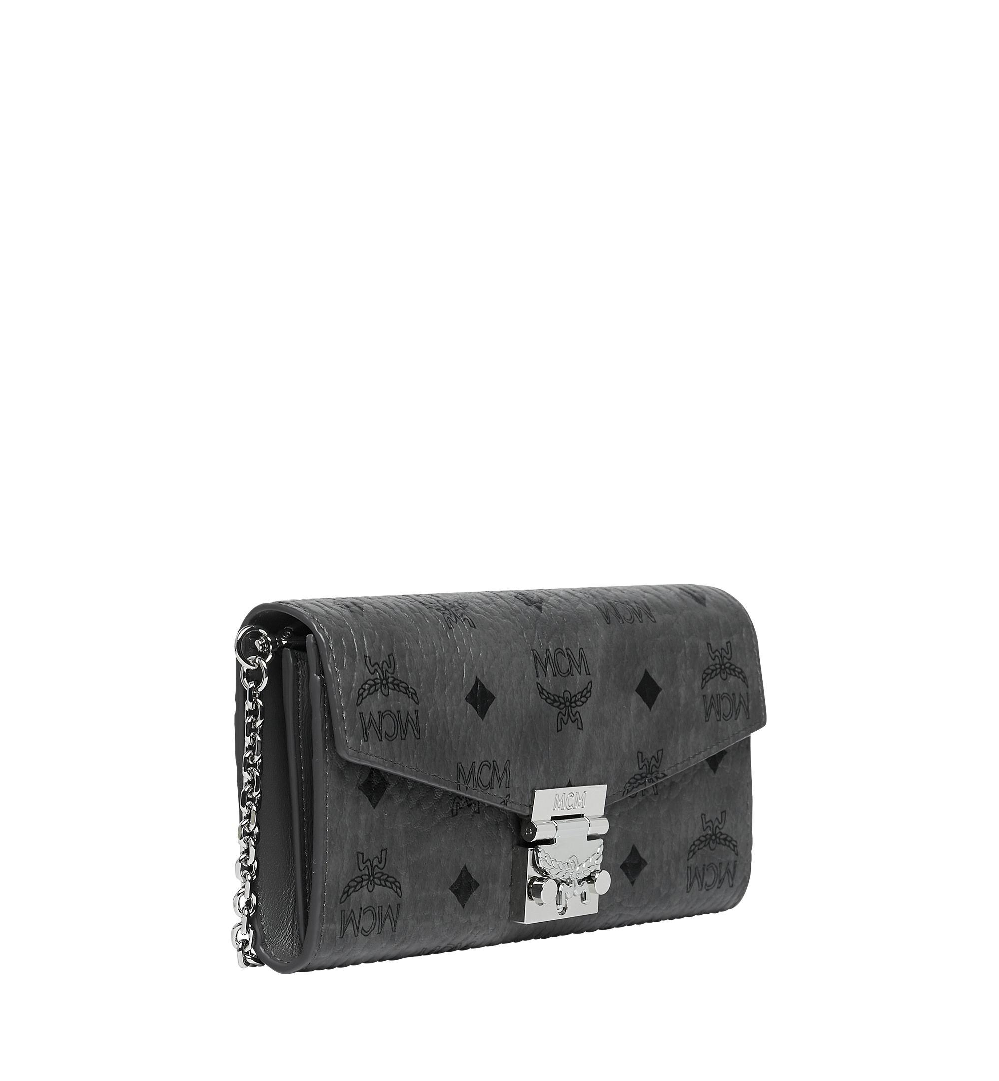 MCM Canvas Patricia Crossbody Wallet In Visetos in Grey ...