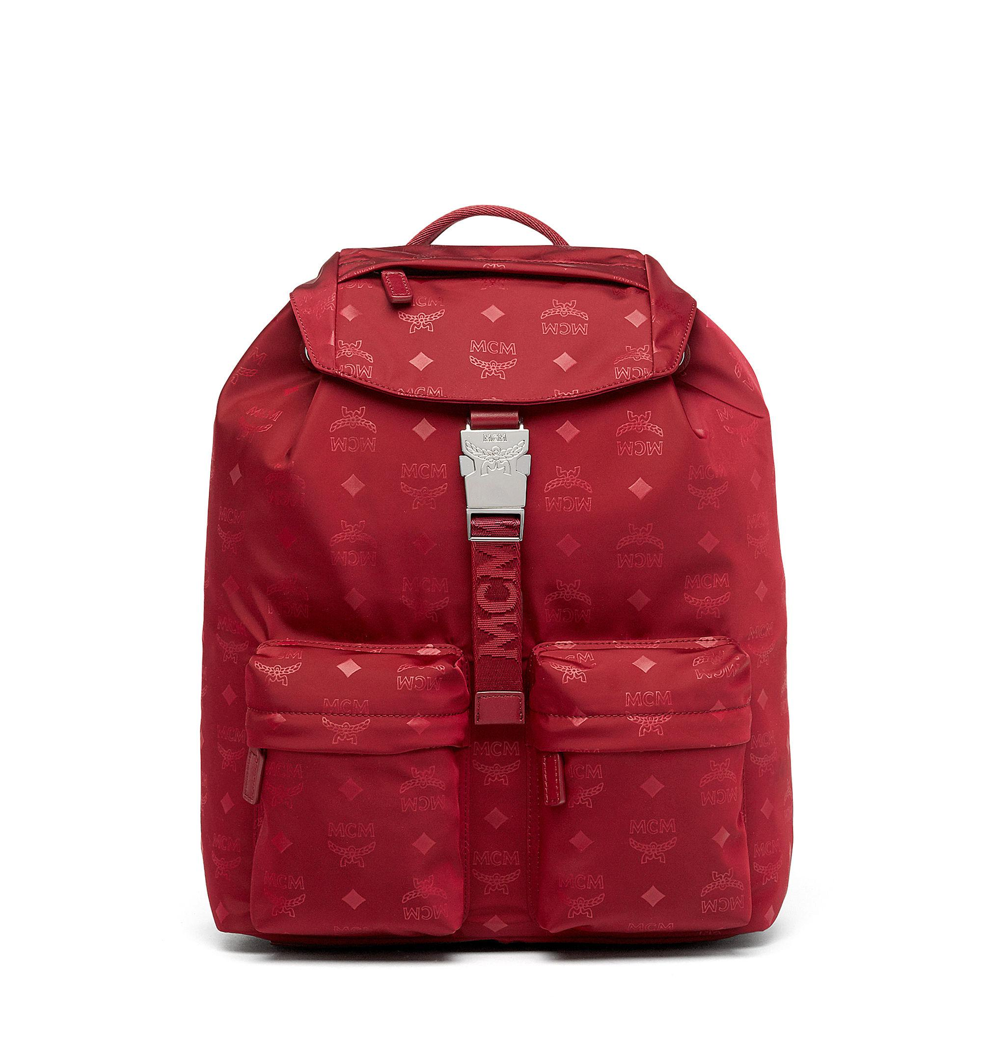 fbd75caa801c Lyst - MCM Dieter Two Pocket Backpack In Monogram Nylon in Red for Men