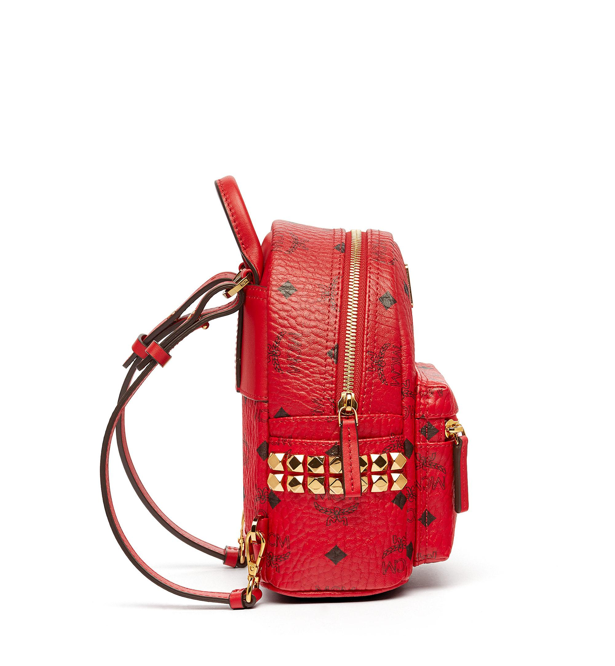 MCM Canvas Stark Bebe Boo Backpack in Ruby Red (Red)