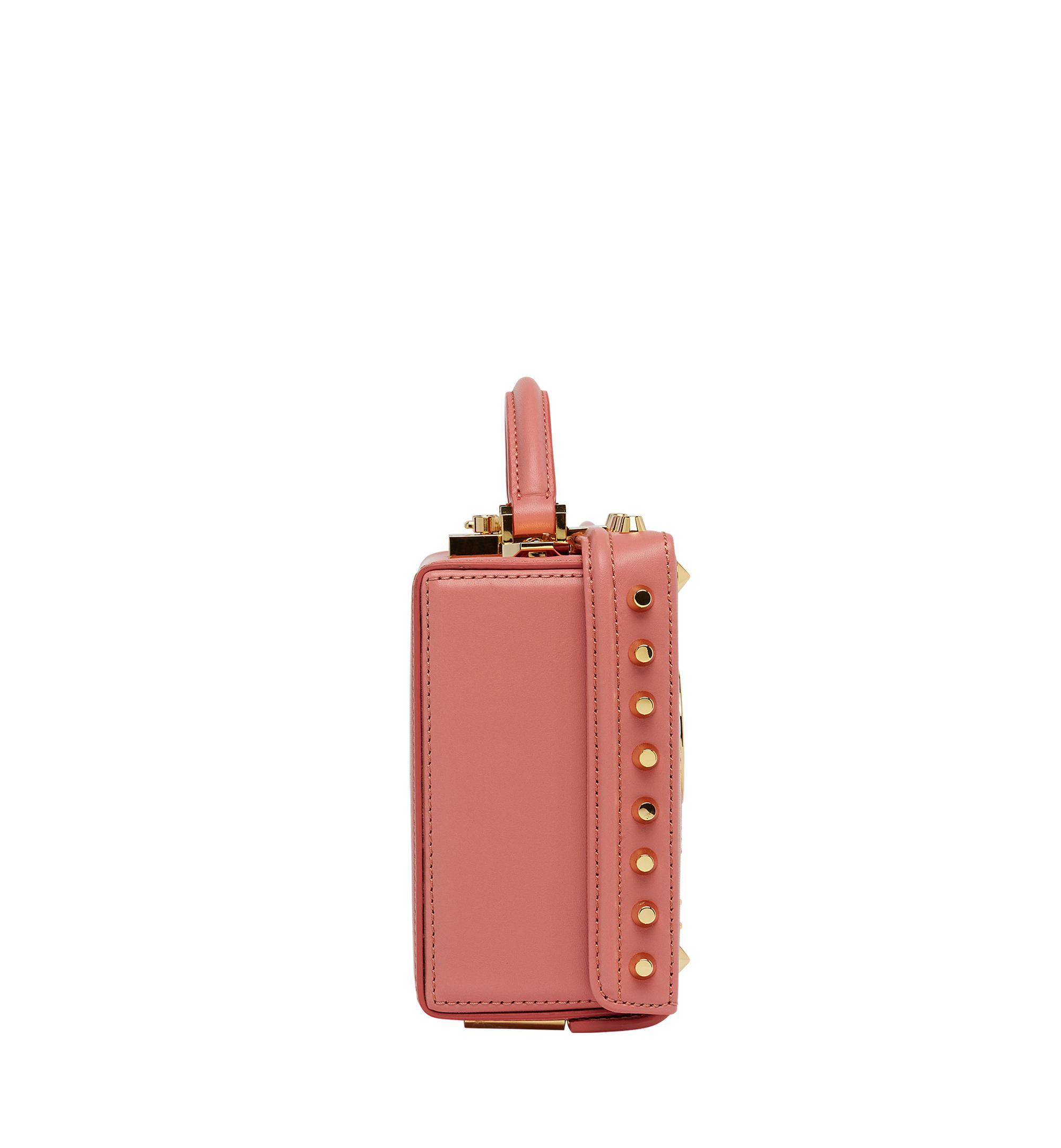 MCM Leather Berlin Crossbody In Cassette in Pink