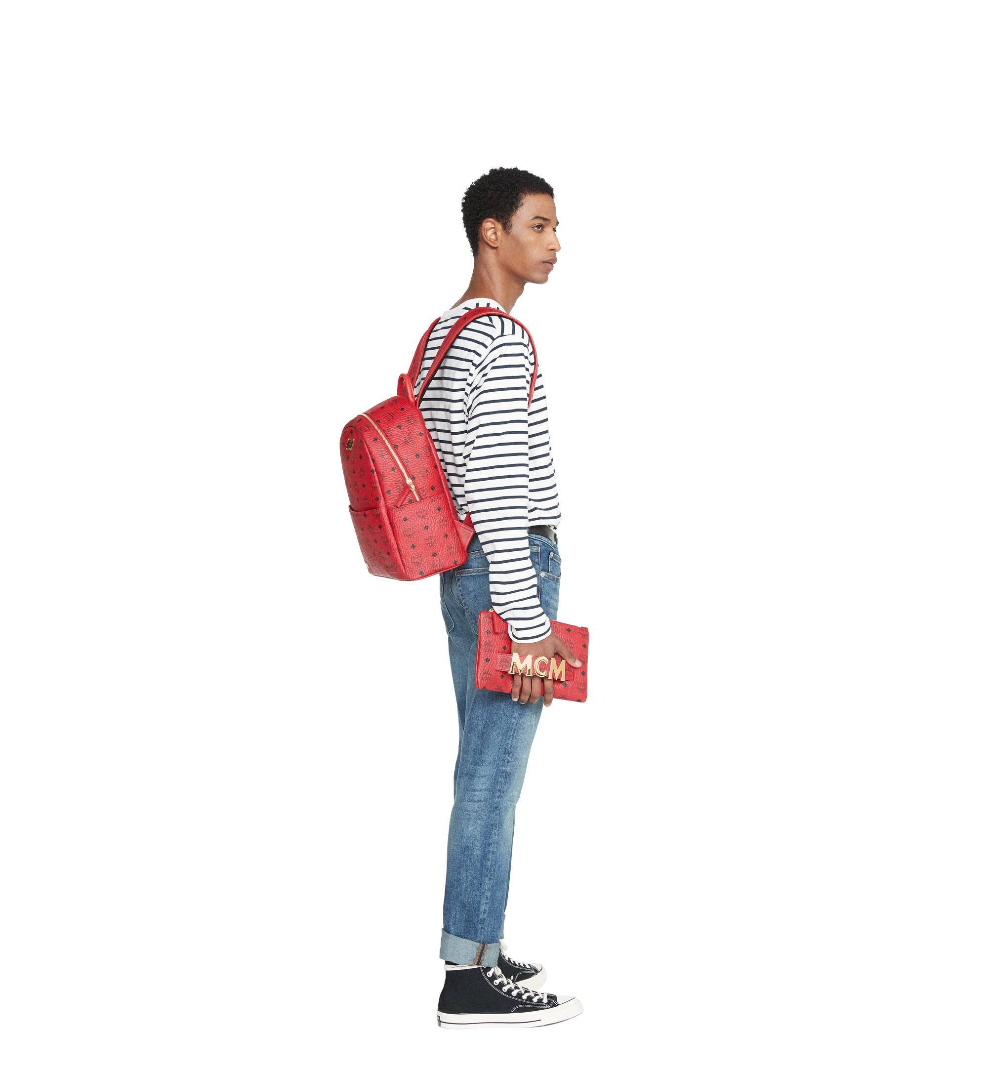 MCM Canvas Project Trilogie Stark Backpack in Ruby Red (Red)