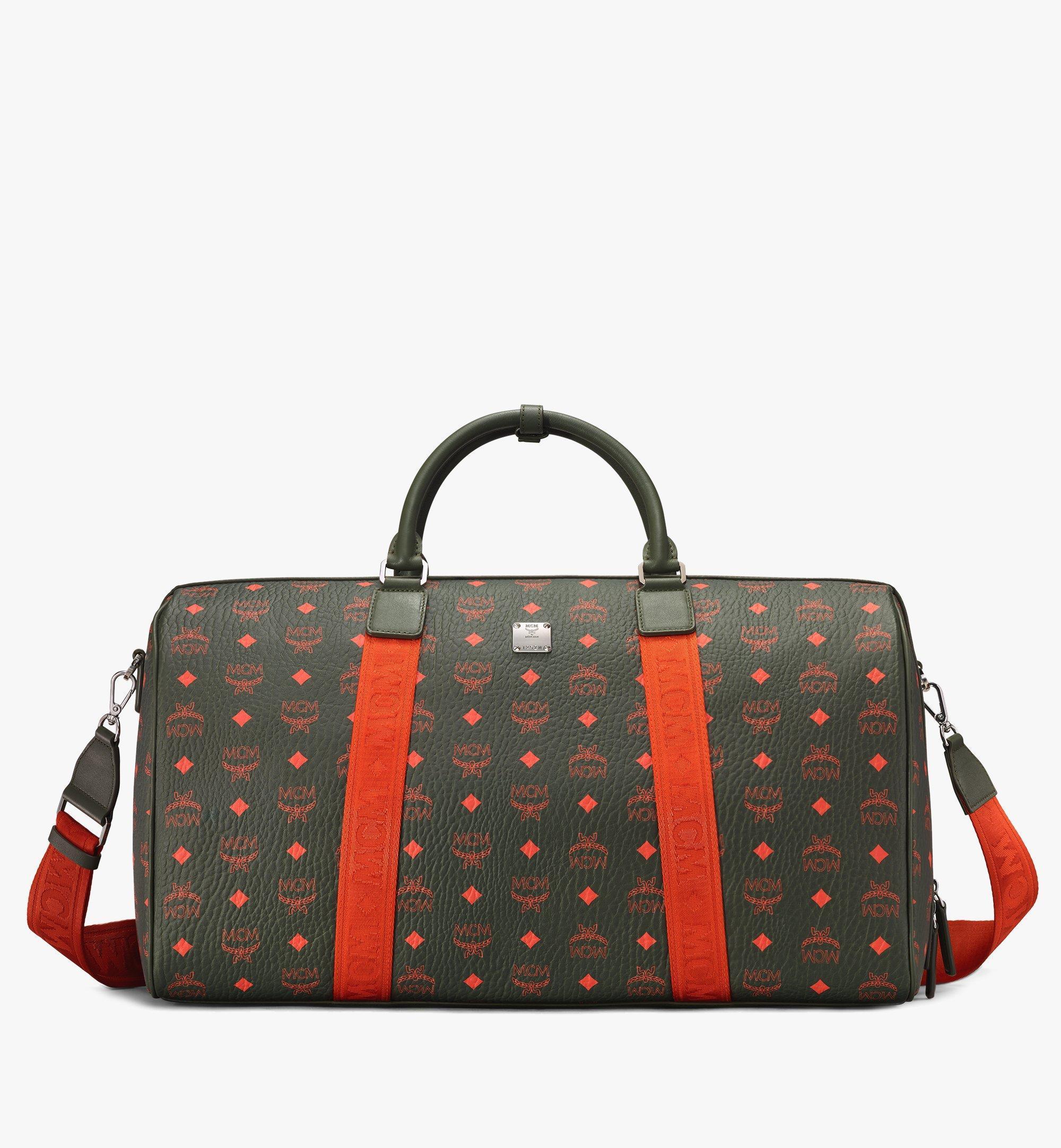 InterestPrint Pink Brown Swirly Circles Leather Tote Bag Large