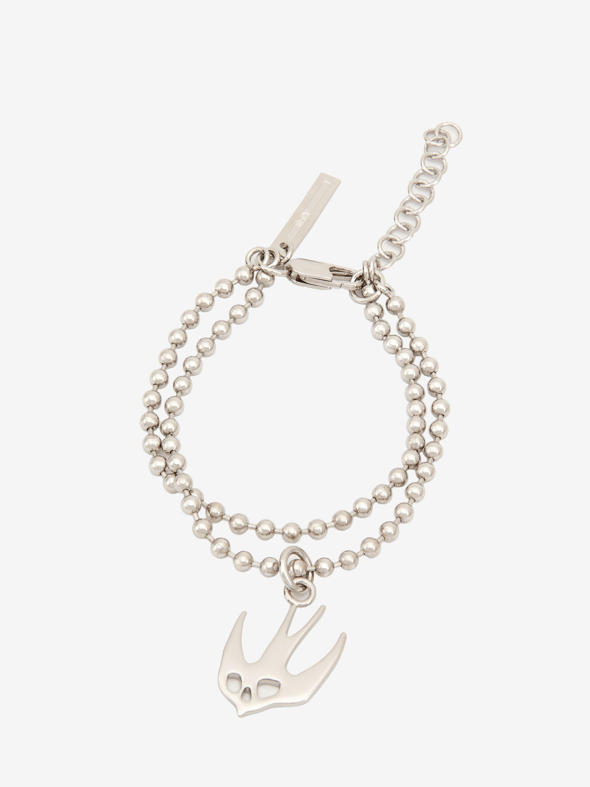 clasp bracelet large with chains sterling thumb ball chain silver crop
