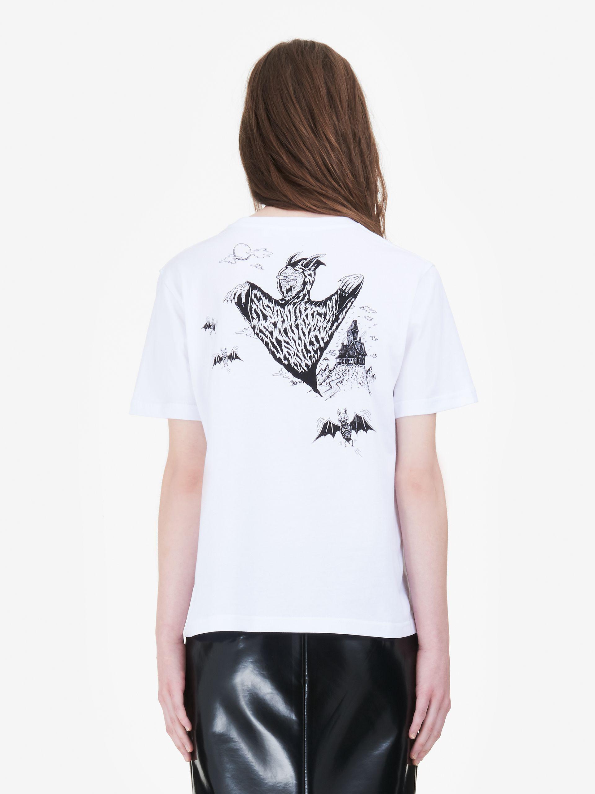 Mcq Alexander Mcqueen Woman Printed Cotton-jersey T-shirt Gray Size XXS Alexander McQueen Buy Cheap 2018 QV4HNSQ