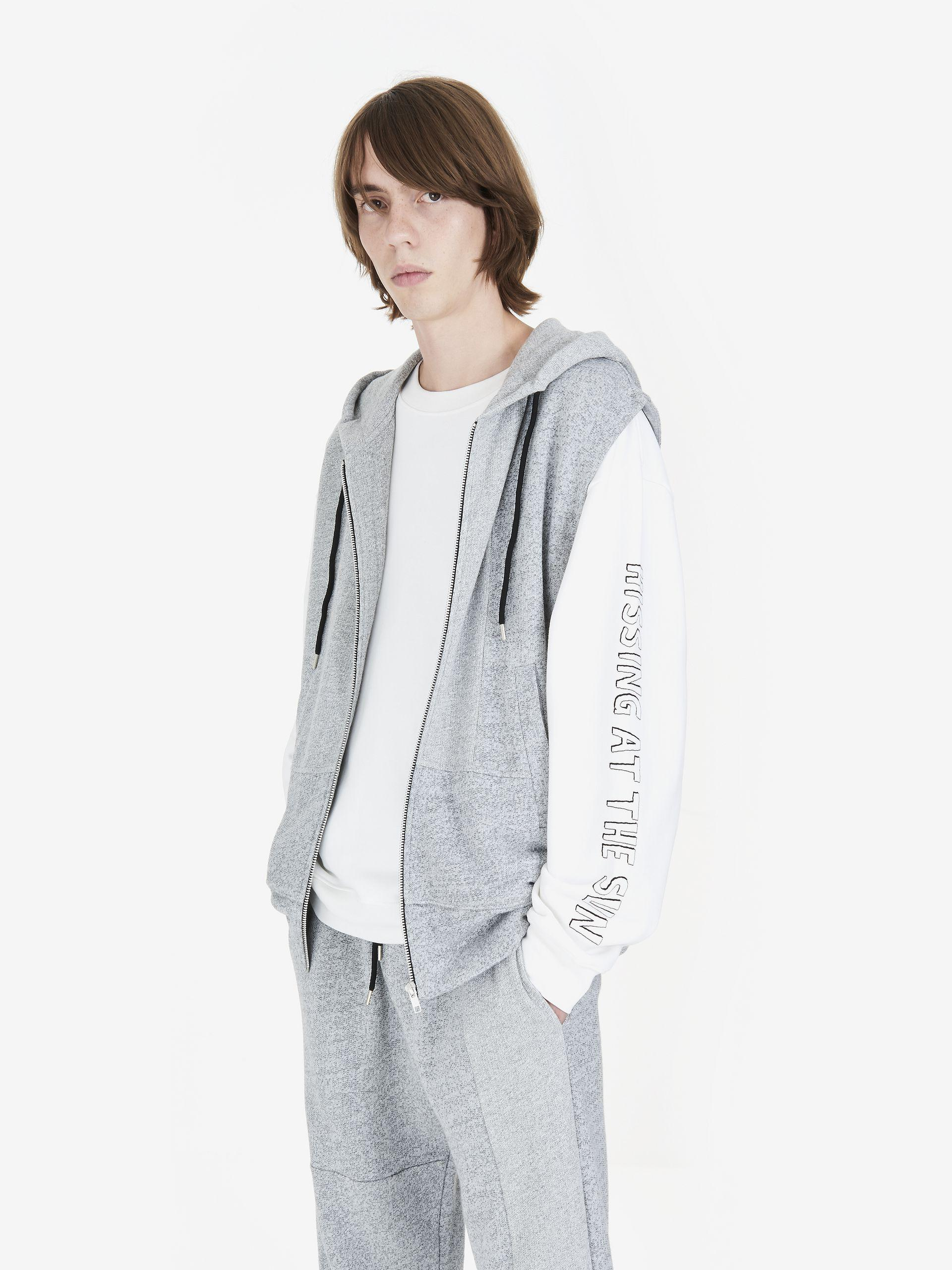9c9a15c08 Lyst - McQ Recycled Press Stud Hoodie in Gray for Men